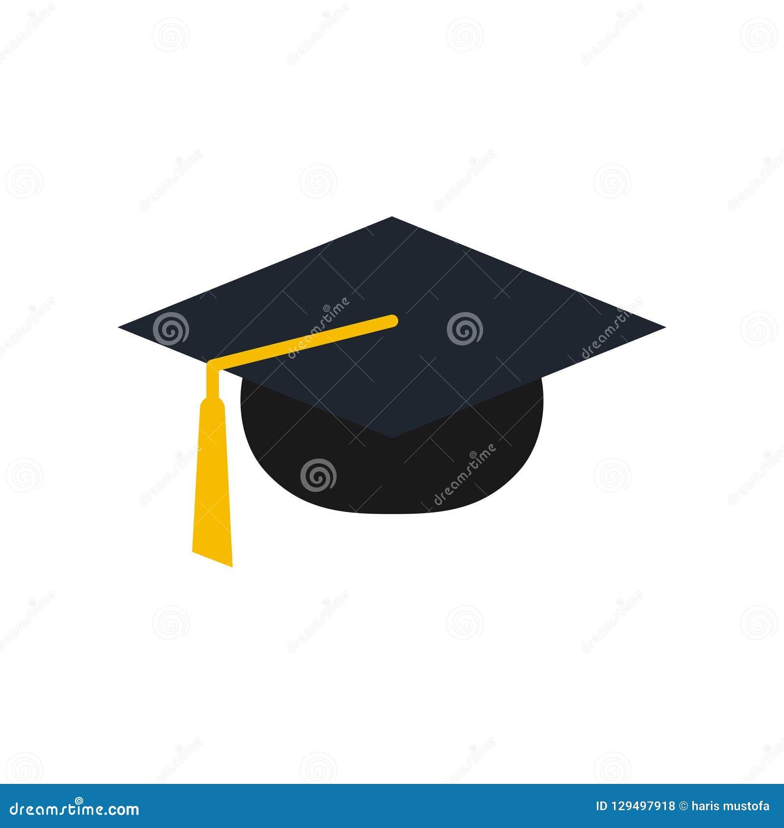 Ejemplo del vector de la plantilla del diseño del icono del logotipo del casquillo de la graduación