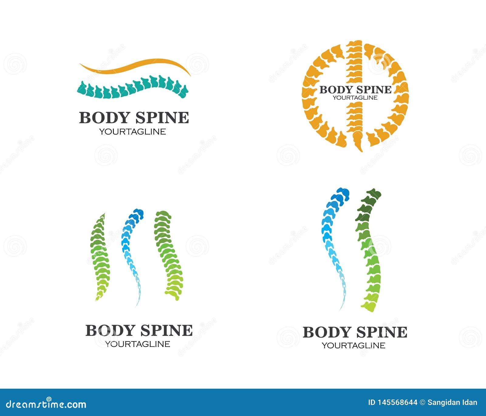 Ejemplo del vector de la plantilla del logotipo del s?mbolo de los diagn?sticos de la espina dorsal
