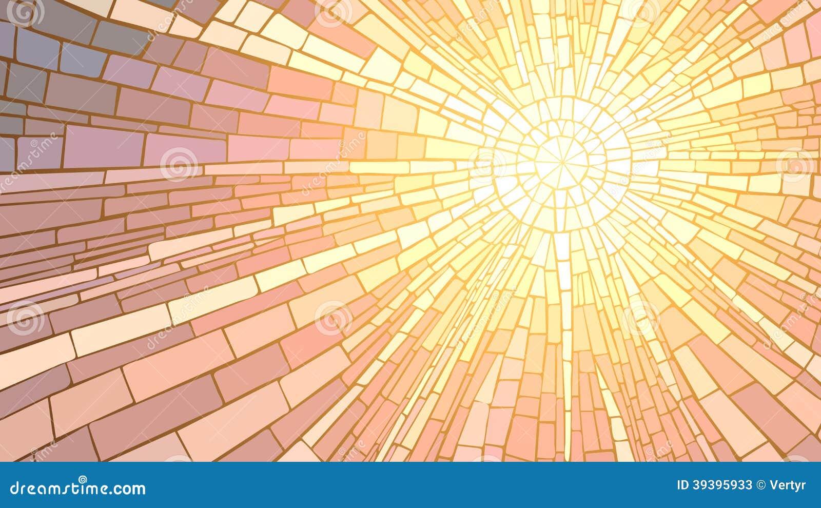 ejemplo del vector de la puesta del sol del mosaico ilustraci n del vector ilustraci n de. Black Bedroom Furniture Sets. Home Design Ideas