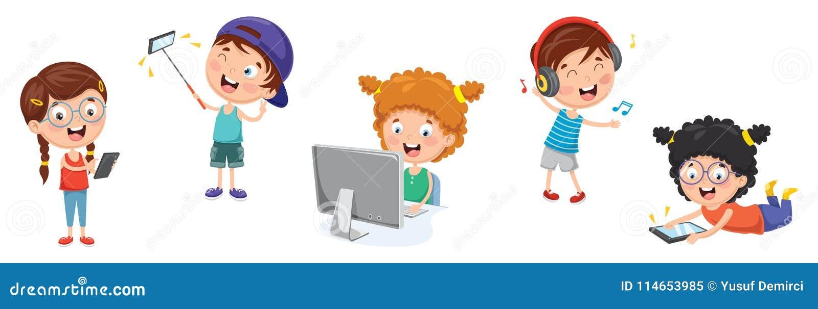 Ejemplo del vector de la tecnología de los niños