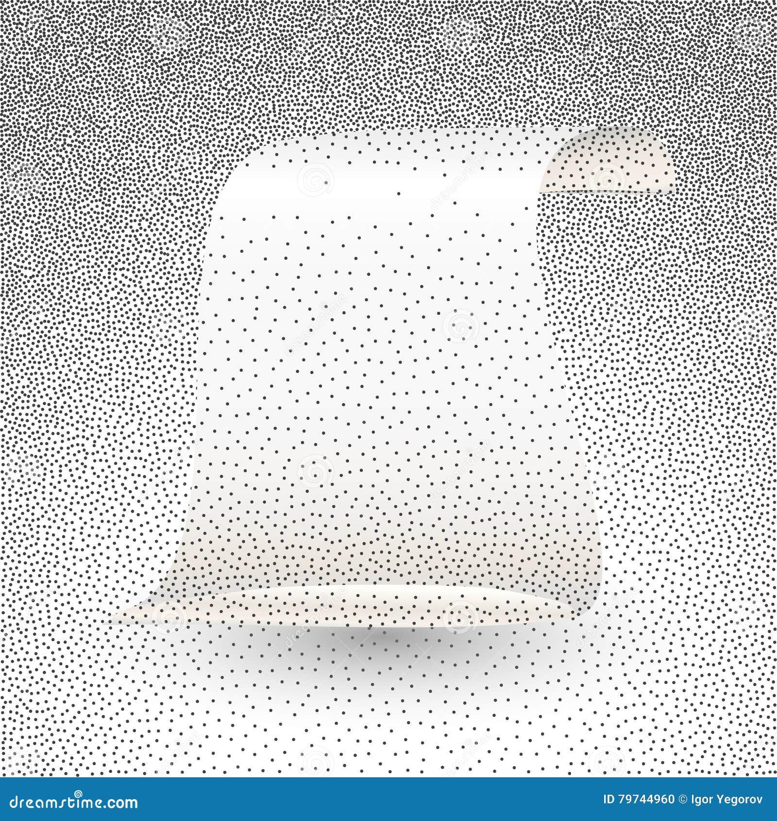Ejemplo del vector de la voluta del papel de plata