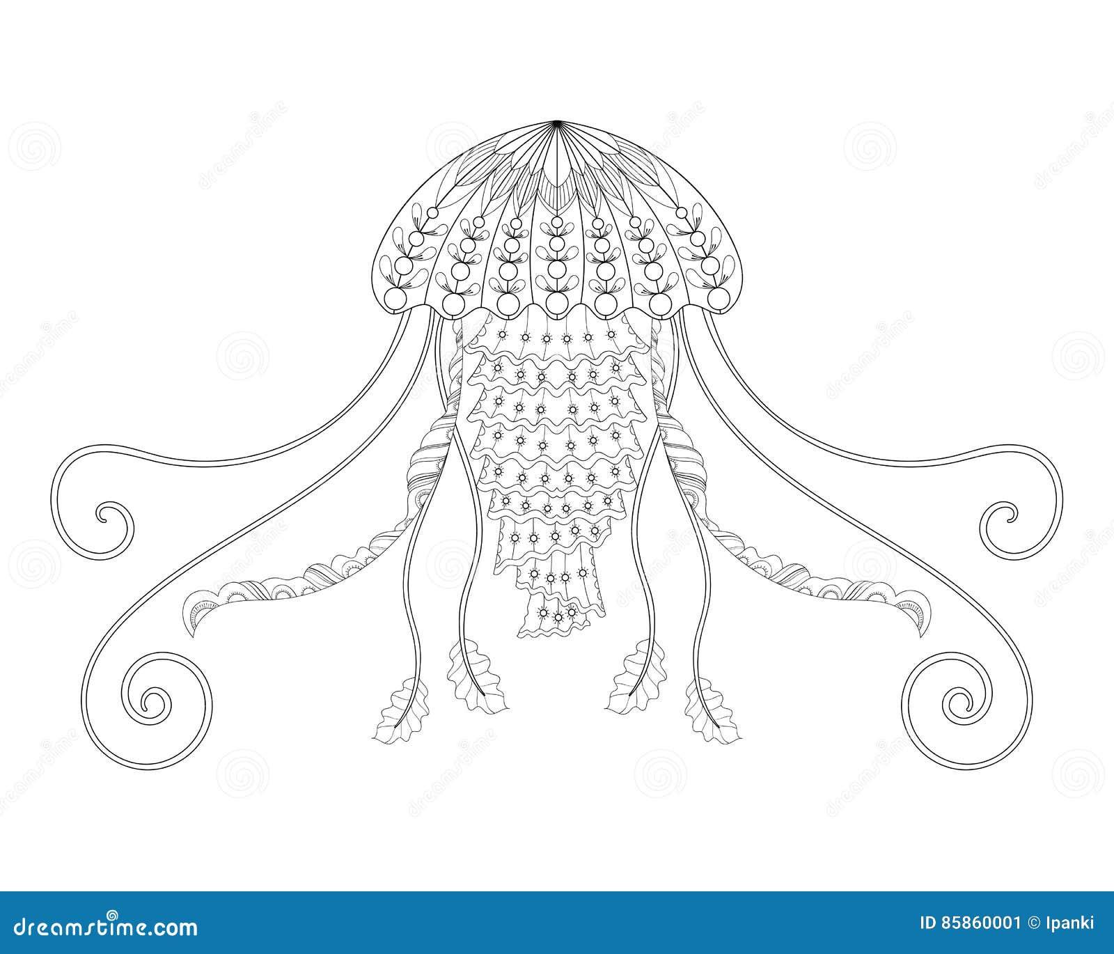 Ejemplo Del Vector De Las Medusas Dé El Animal De Mar Exhausto Para ...