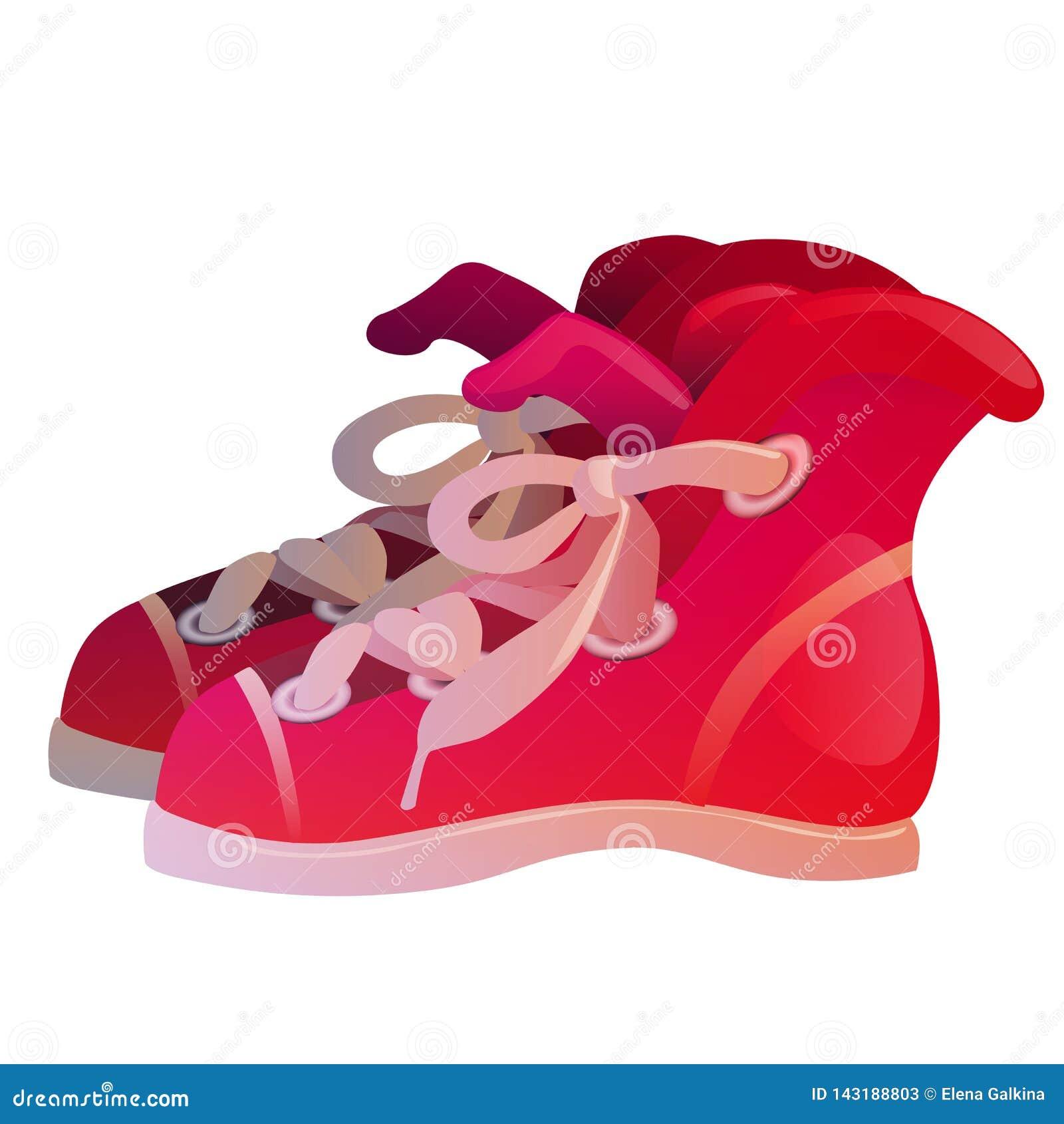 Ejemplo del vector de las zapatillas de deporte