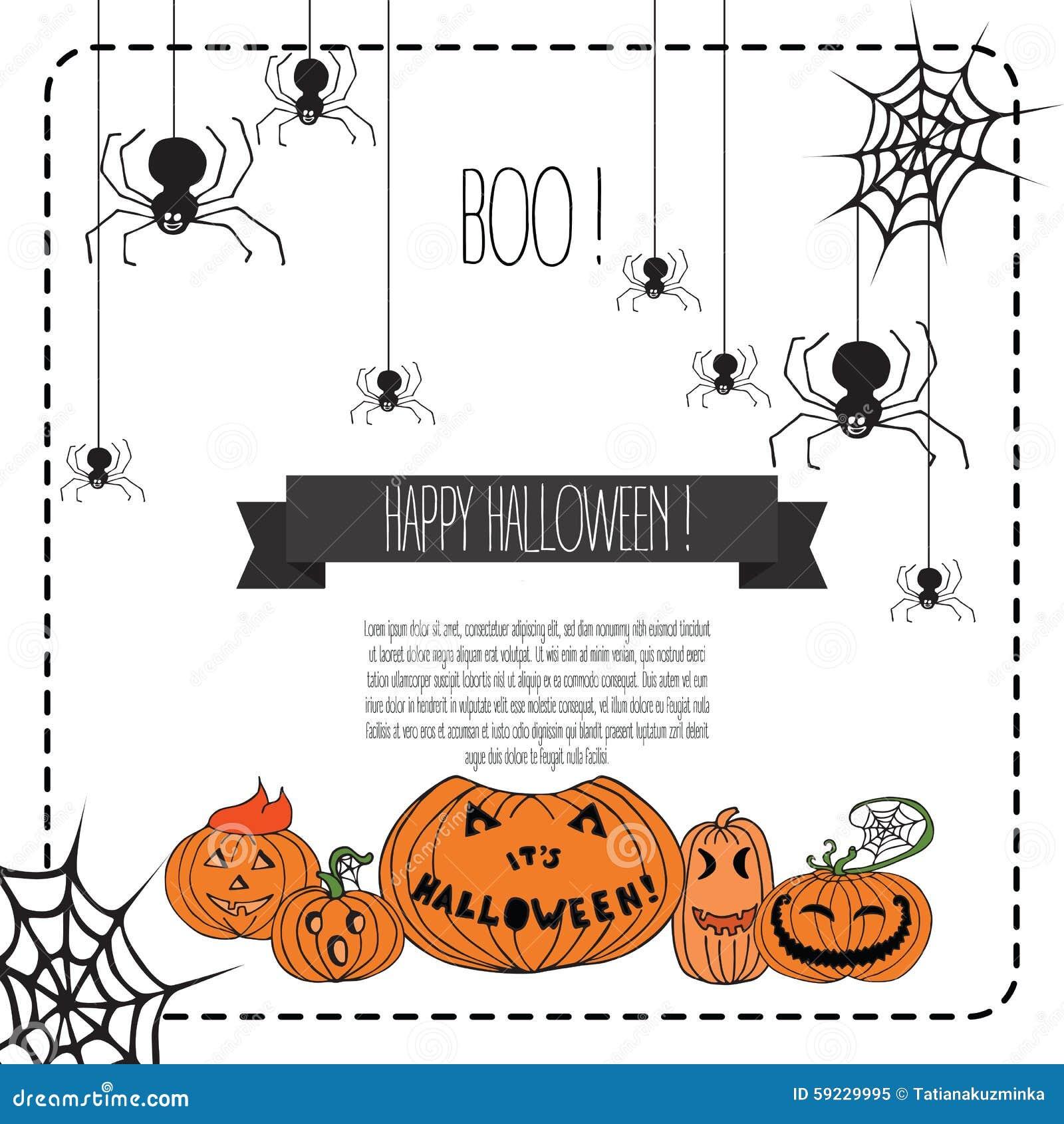 Download Ejemplo Del Vector De Los Elementos Del Diseño De Halloween Stock de ilustración - Ilustración de concepto, frontera: 59229995