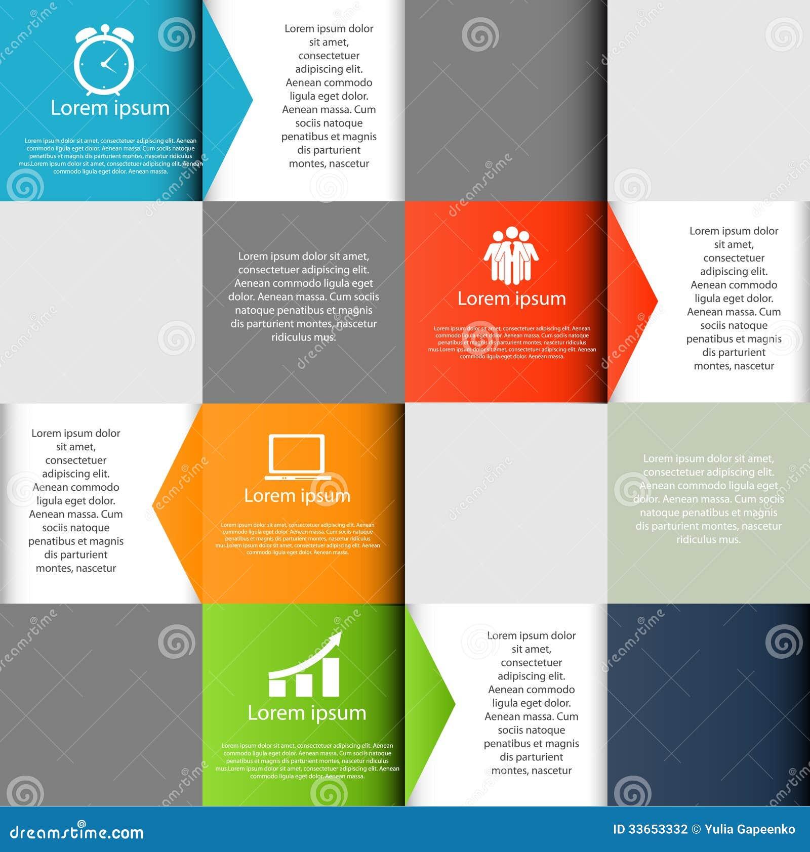 Ejemplo del vector de los elementos del diseño de INFOGRAPHICS
