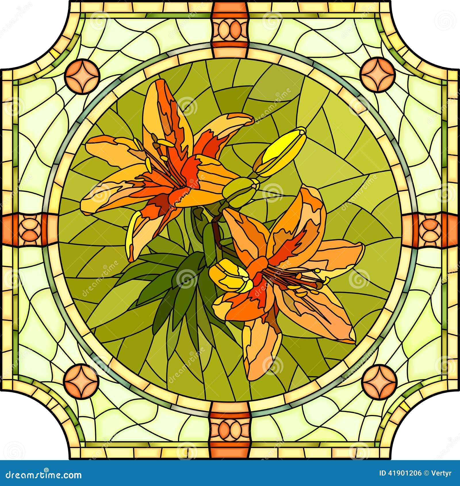 Ejemplo del vector de los lirios de la naranja de la flor