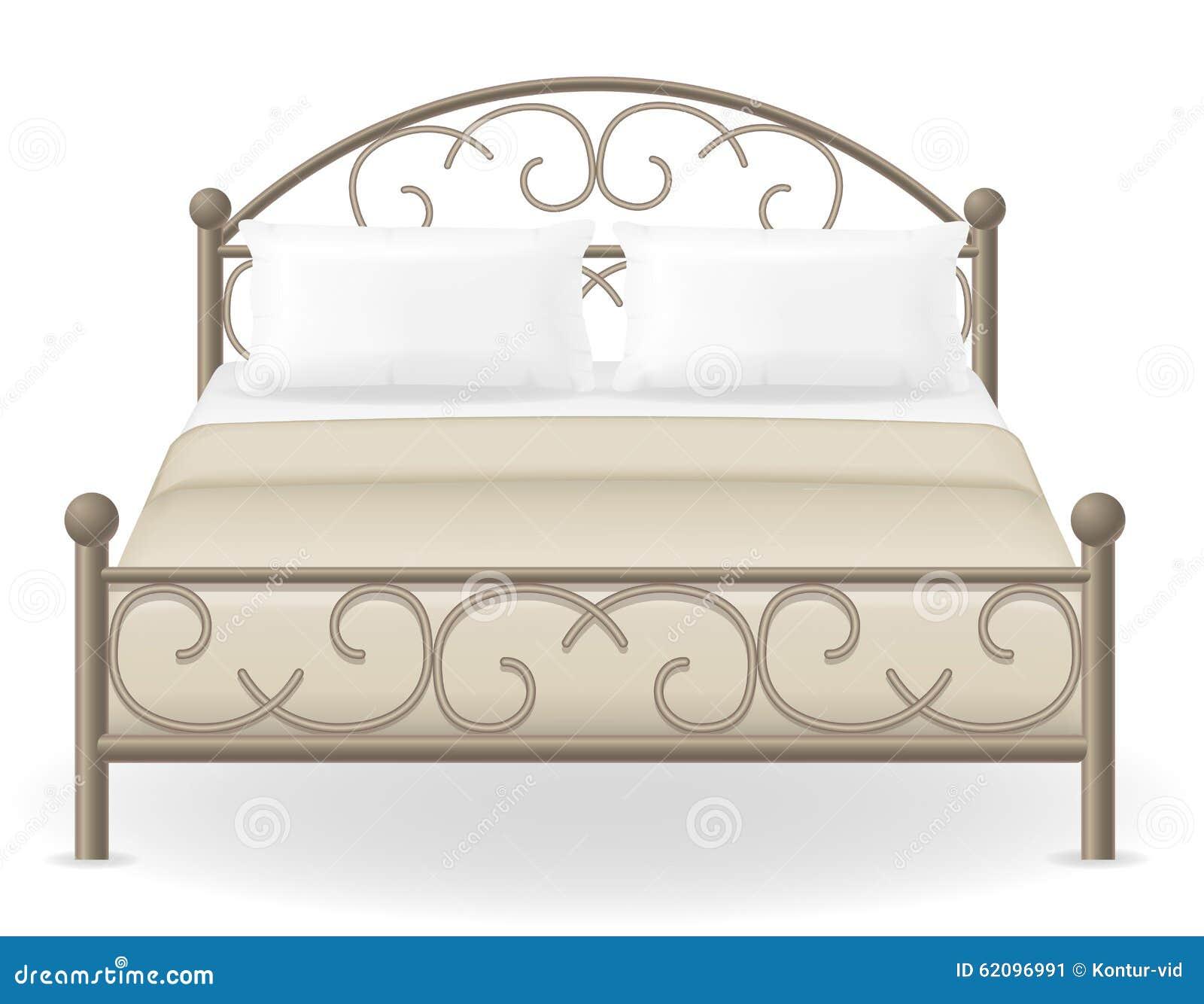 Ejemplo Del Vector De Los Muebles De La Cama Matrimonial  # Bedtime Muebles