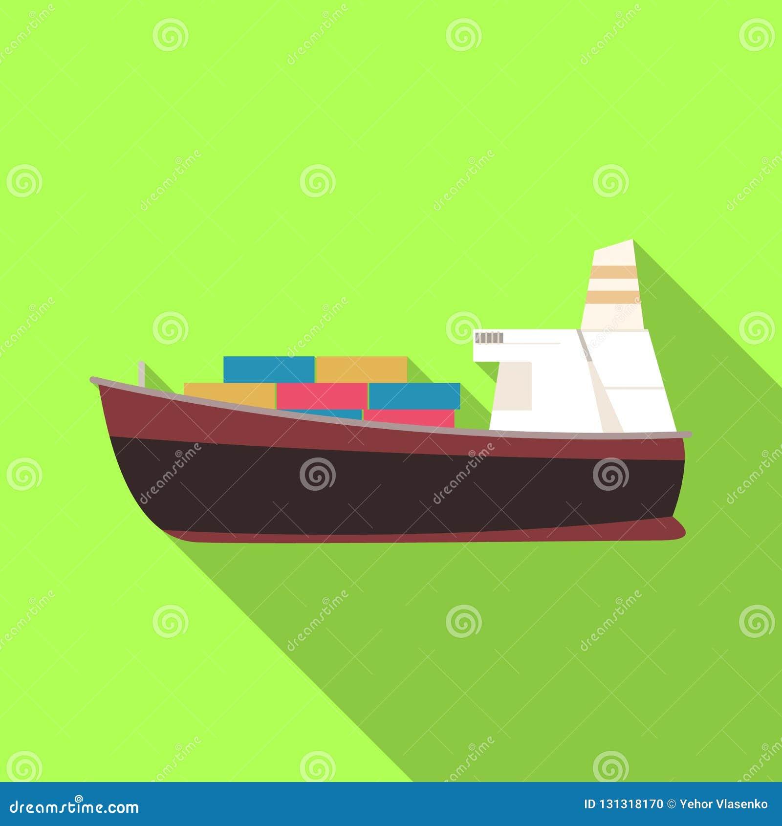 Ejemplo del vector de mercancías y del icono del cargo Sistema de mercancías y del ejemplo común del vector del almacén
