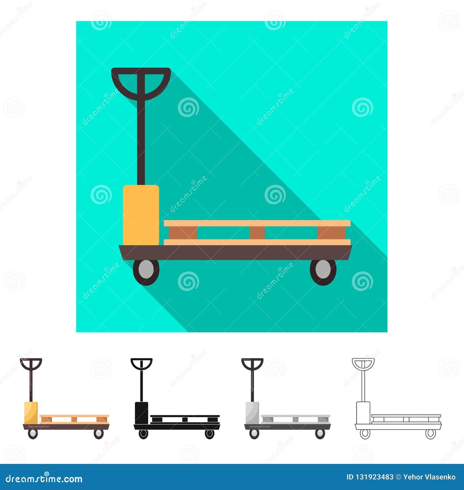 Ejemplo del vector de mercancías y del símbolo del cargo Colección de mercancías e icono del vector del almacén para la acción
