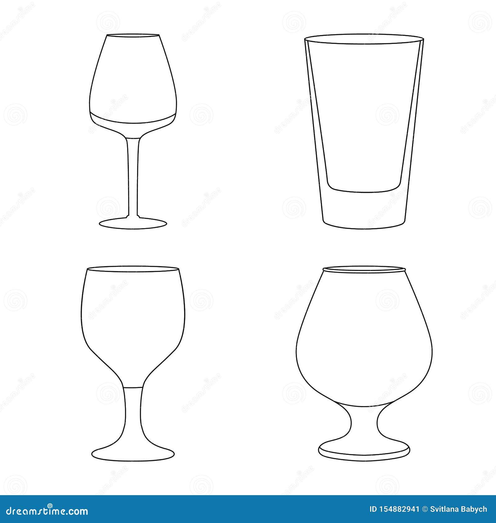 Ejemplo del vector de platos y de la muestra del envase Fije de platos y del ejemplo com?n del vector de la cristaler?a