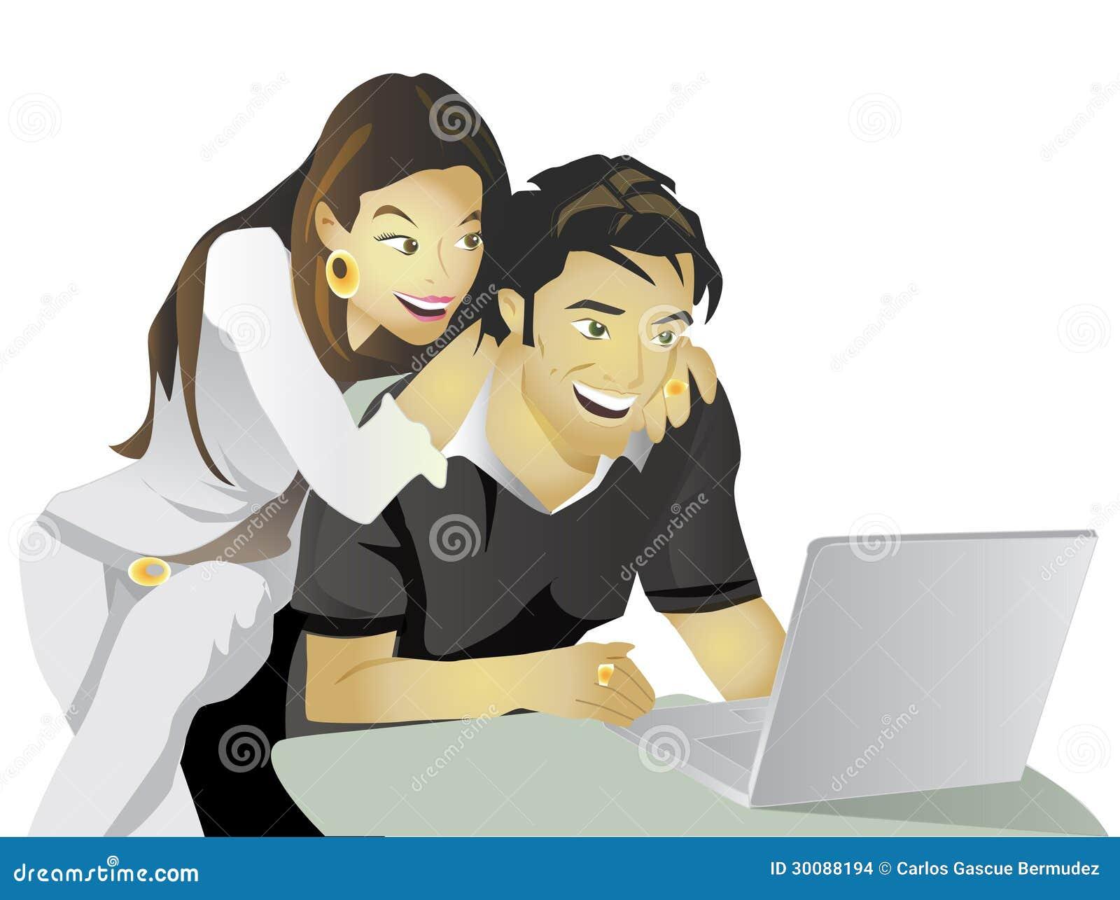 Ordenador del compromiso de los pares del planeamiento de la boda