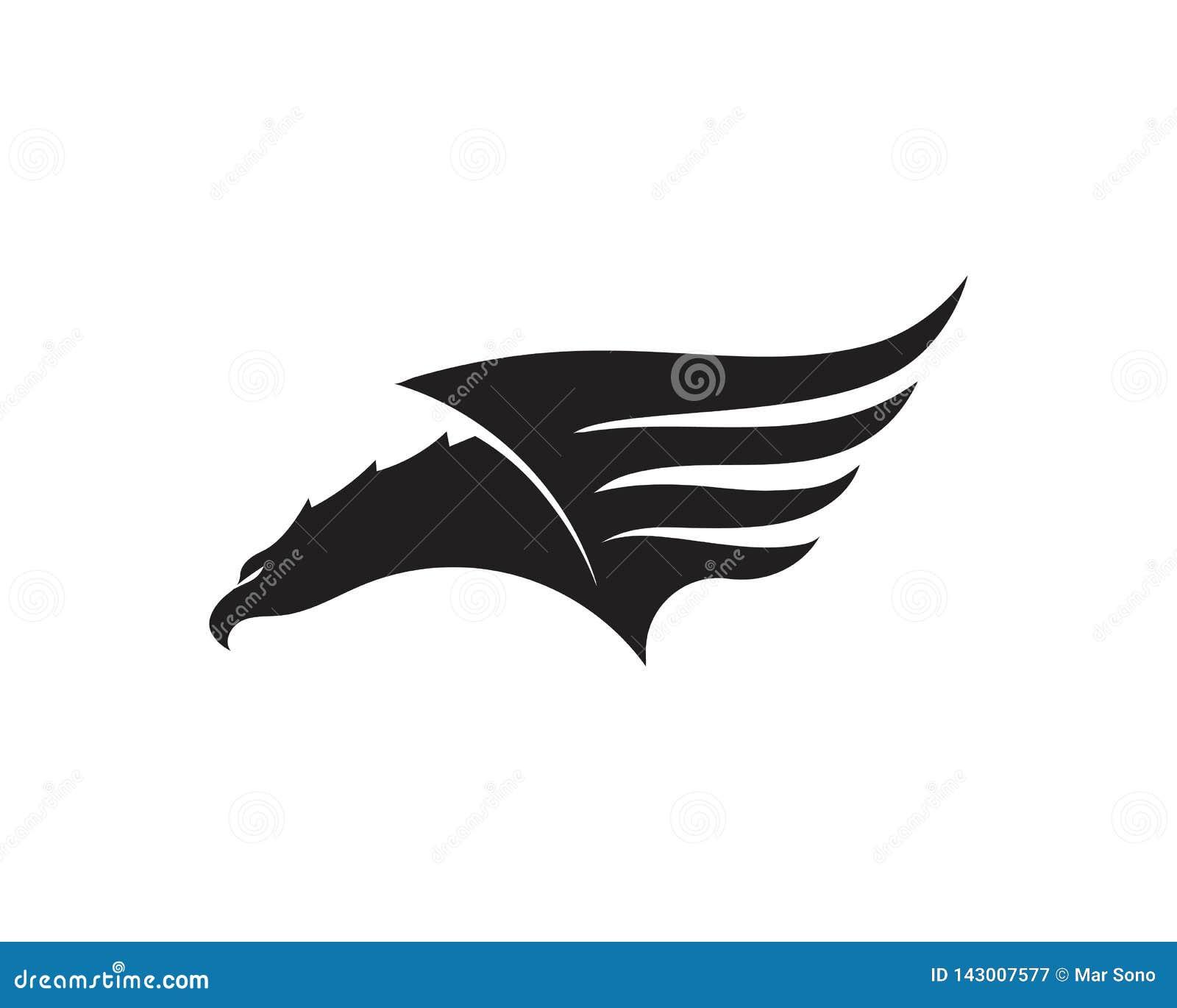 Ejemplo del vector de Wing Falcon Logo Template