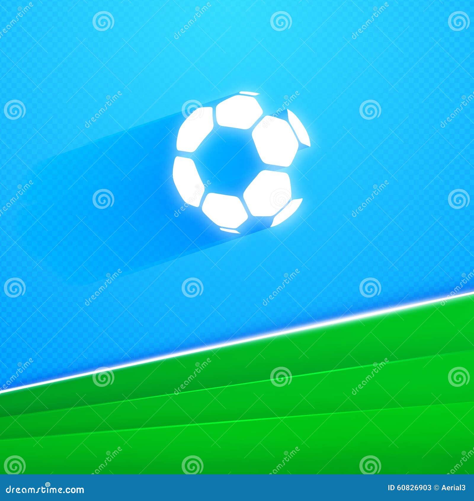 Ejemplo del vector del balón de fútbol del vuelo