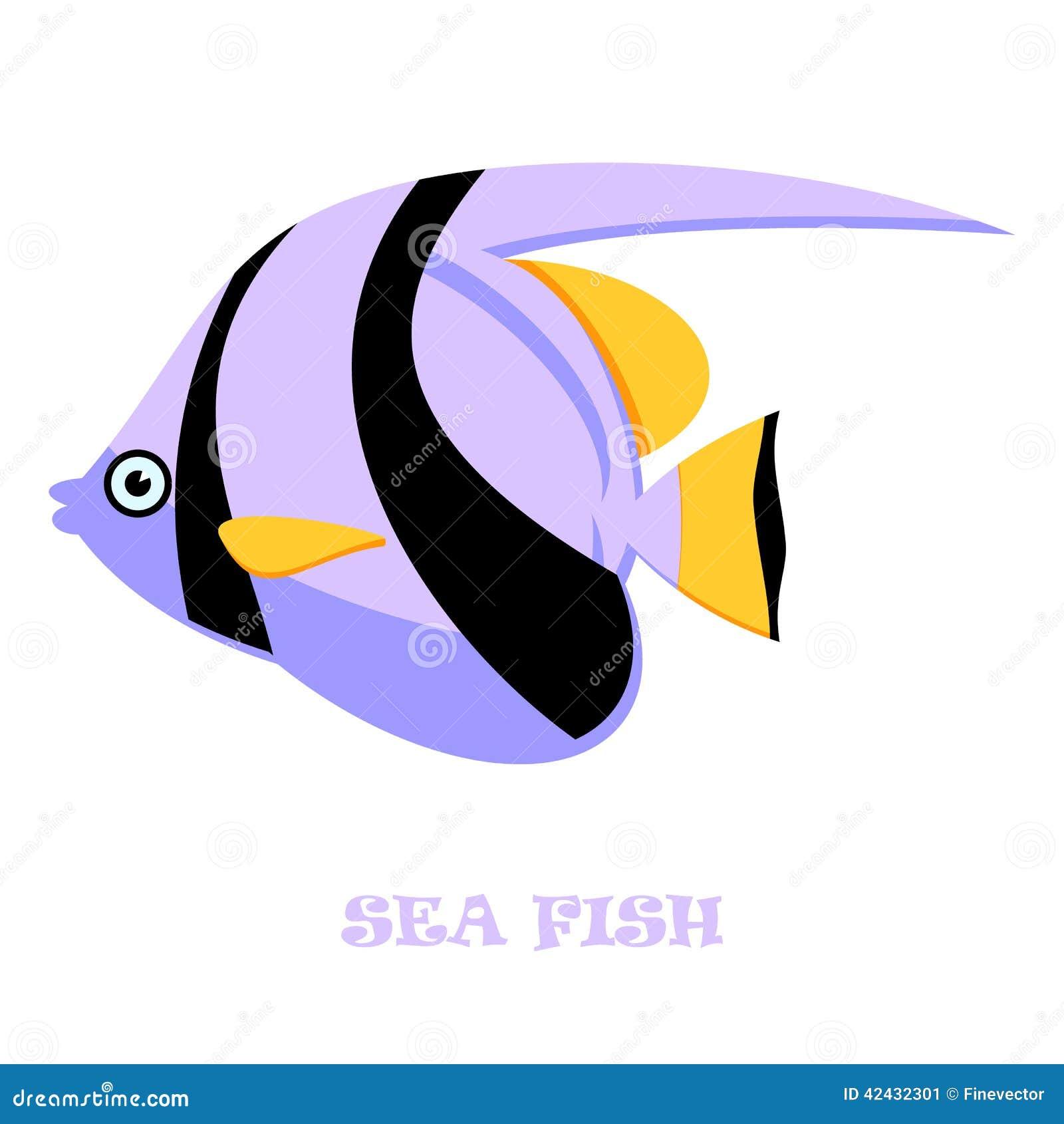 Ejemplo del vector del color de los pescados de mar