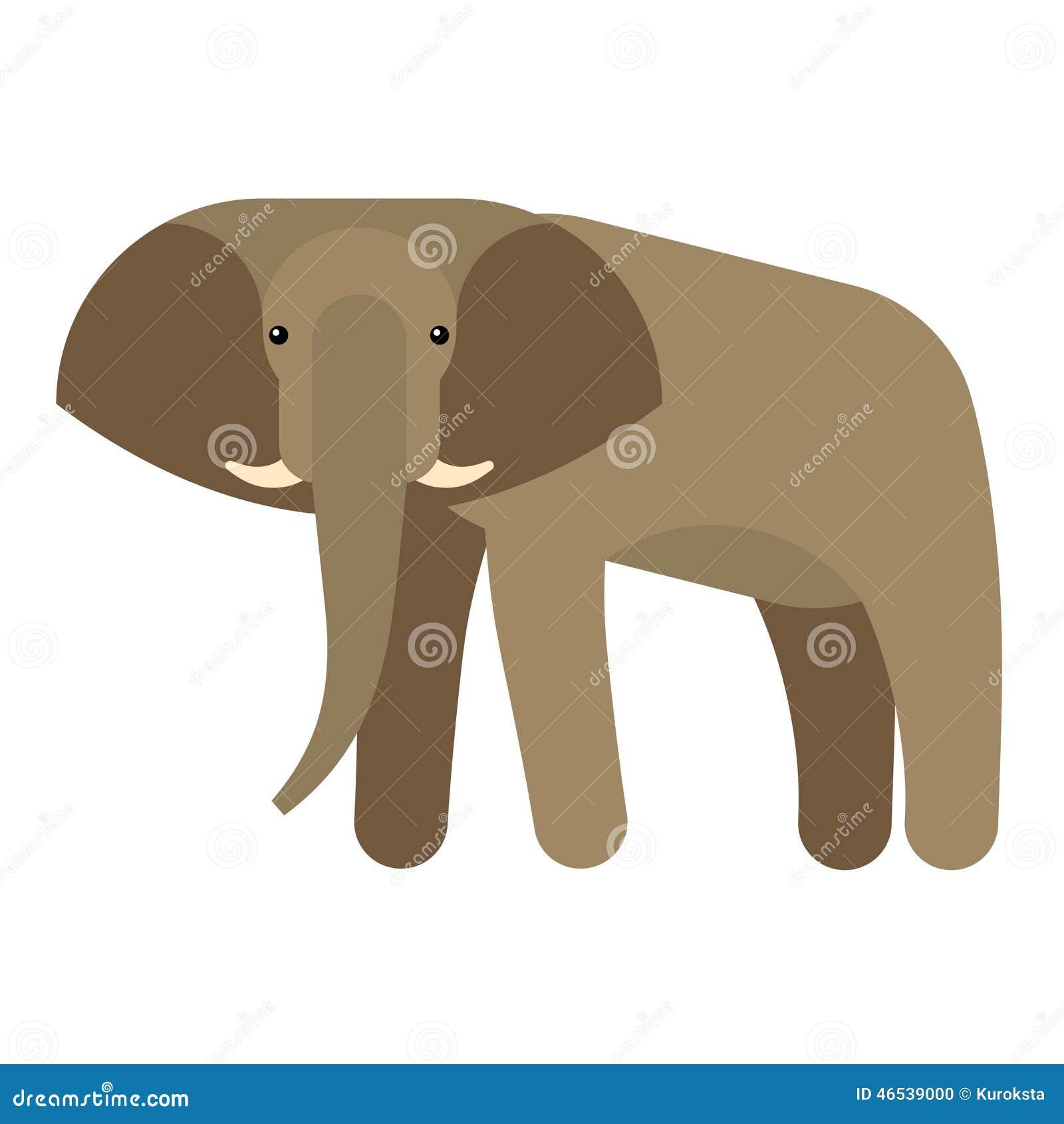 Ejemplo del vector del elefante