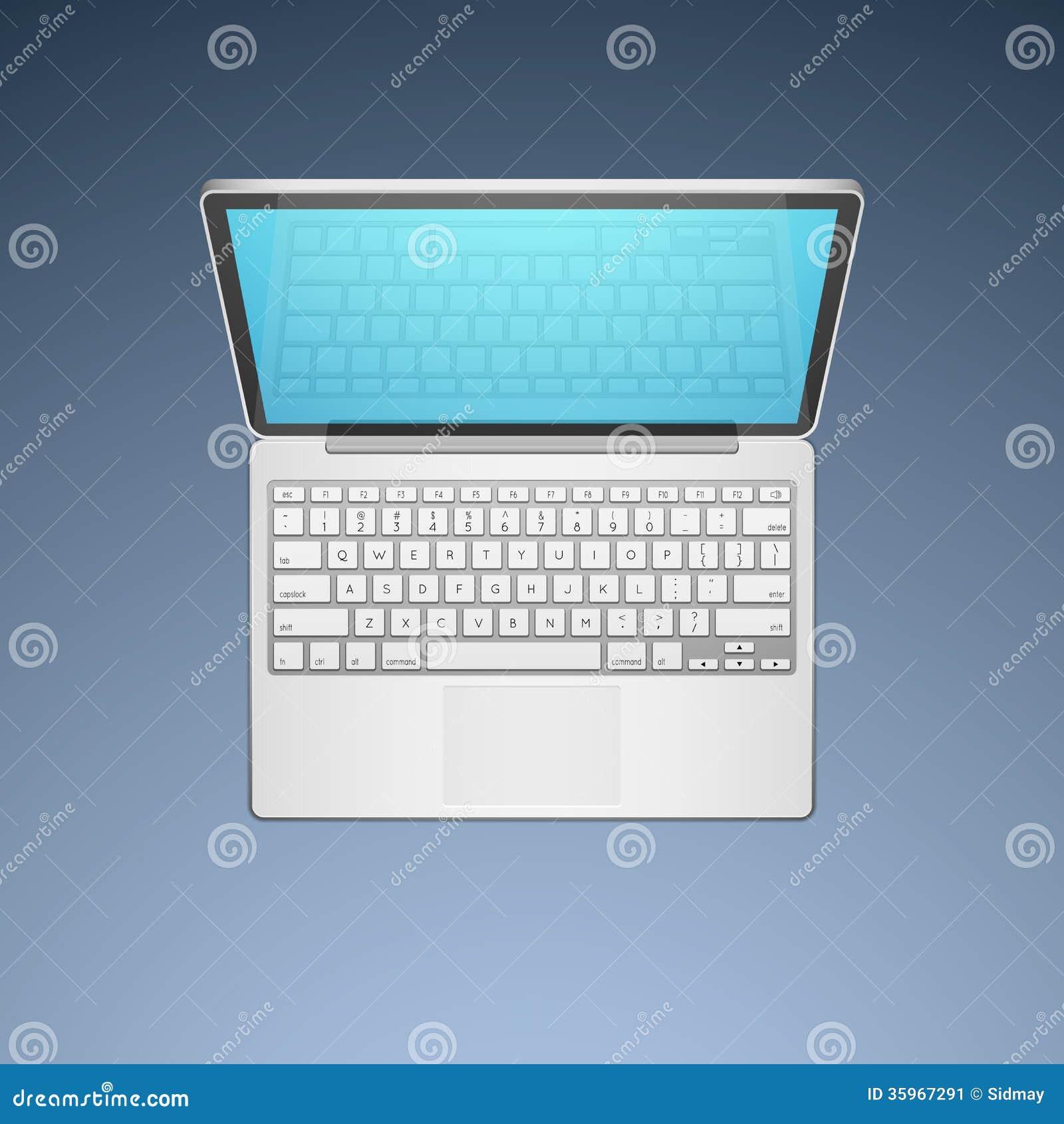 Ejemplo del vector del ordenador portátil
