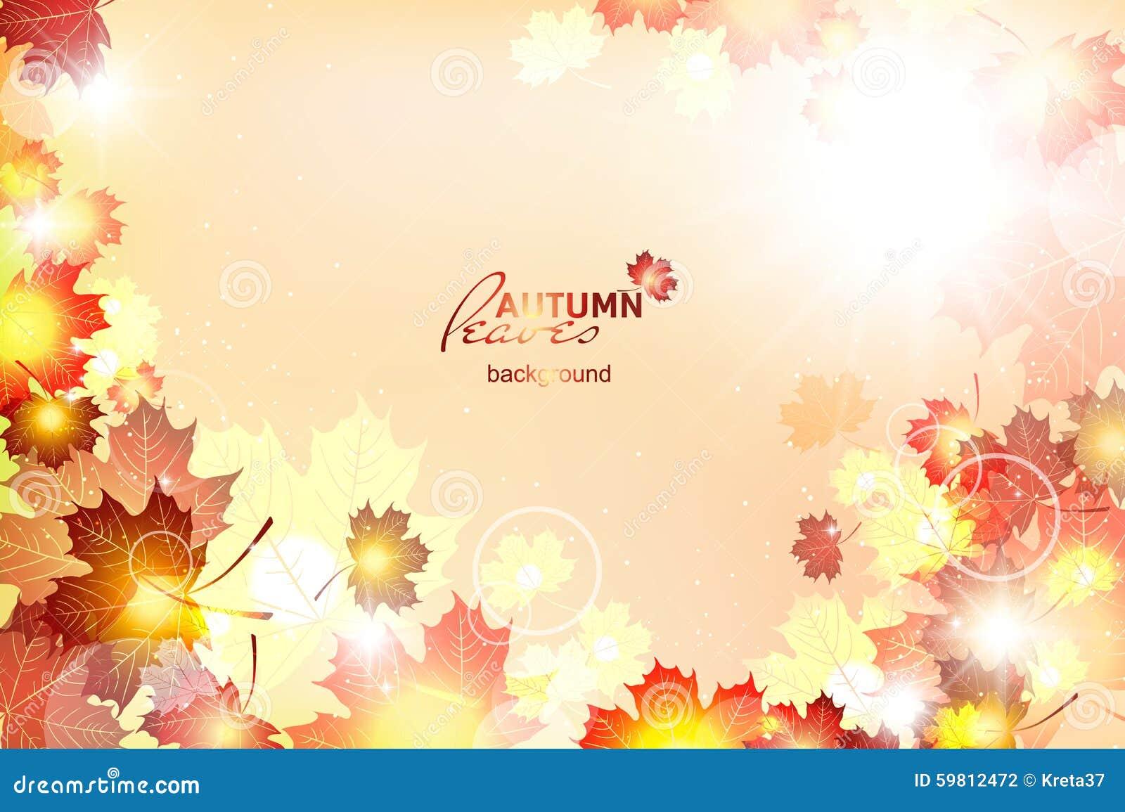 Ejemplo del vector del otoño soleado brillante