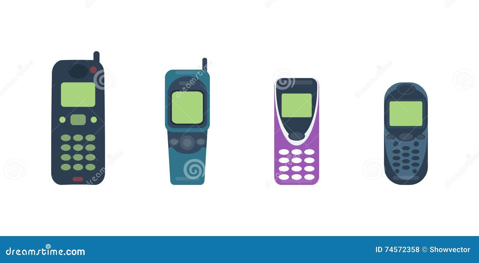 Ejemplo del vector del teléfono móvil del teléfono móvil