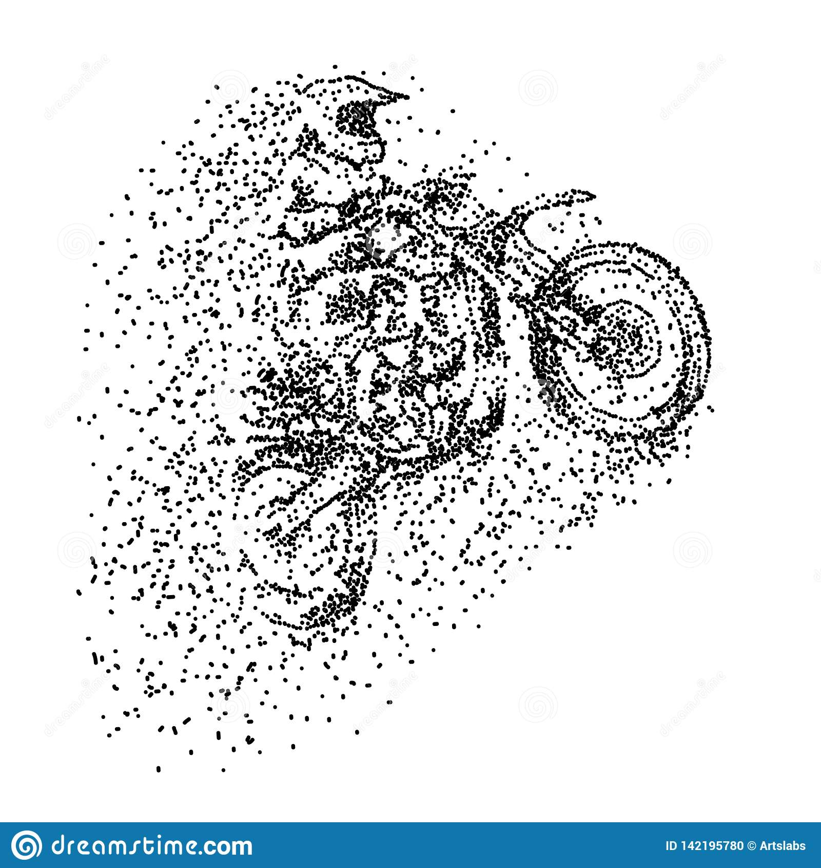 Ejemplo del vector del diseño de la partícula del motocrós