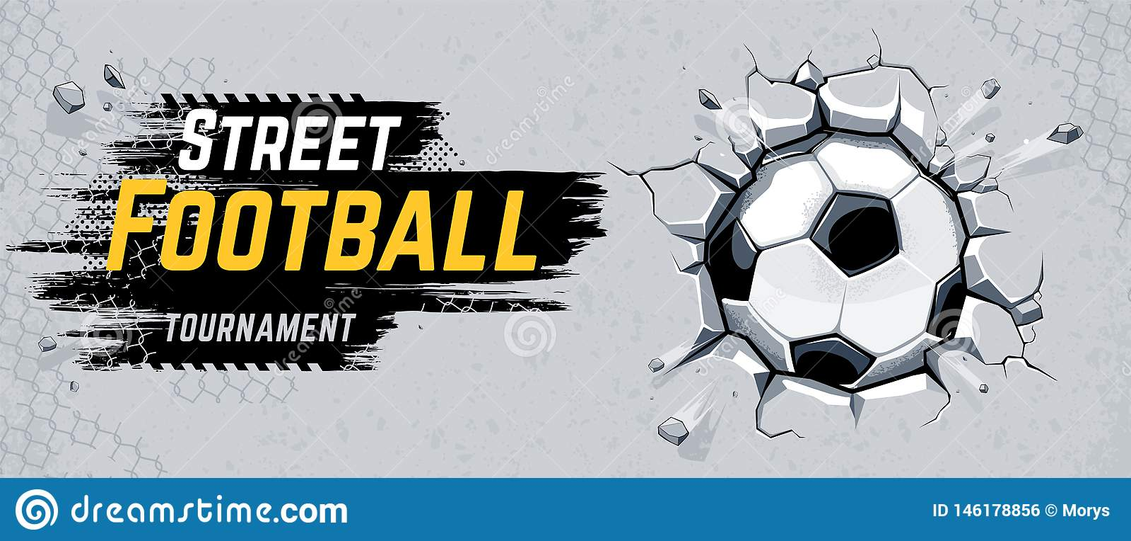 Ejemplo del vector del diseño del fútbol de la calle