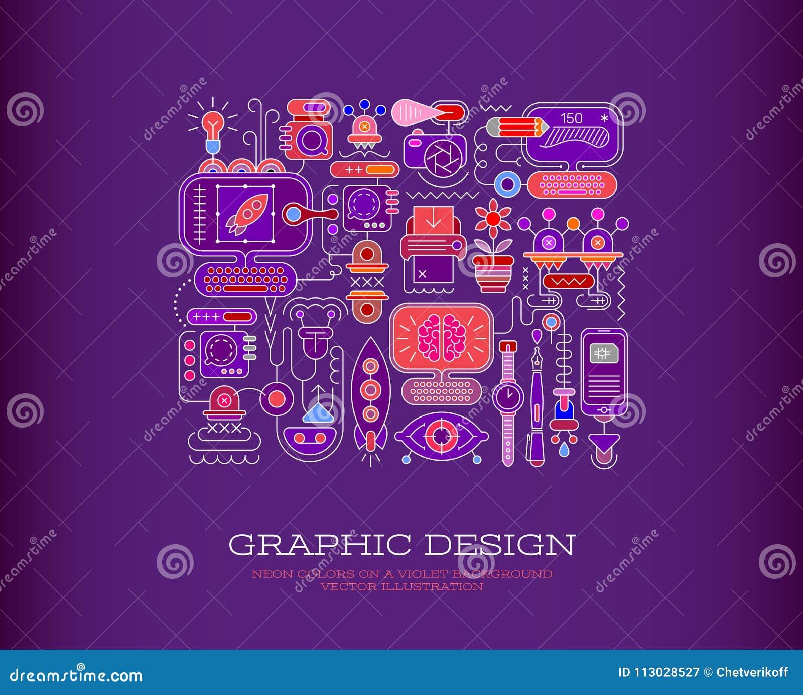 Ejemplo del vector del diseño gráfico