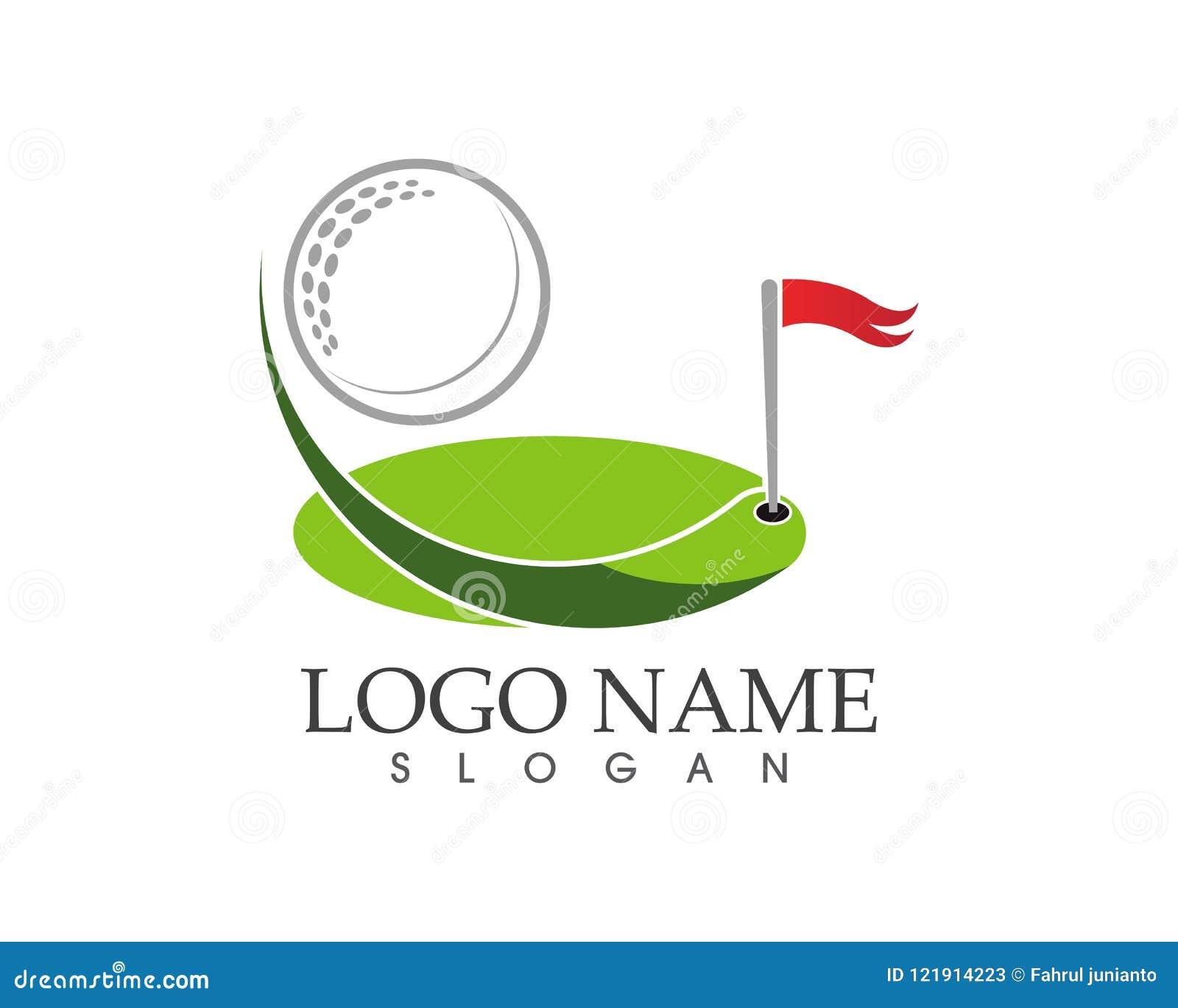 Ejemplo del vector del diseño del logotipo del icono del golf