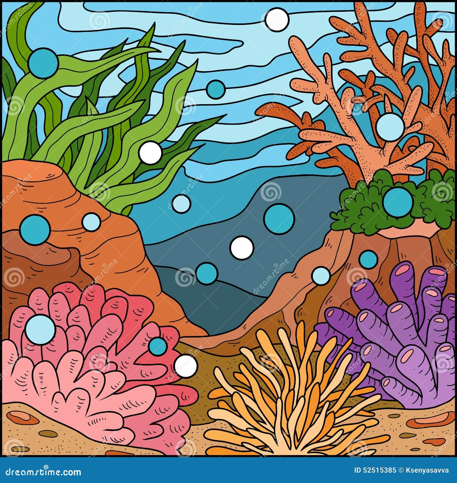 Ejemplo Del Vector, Fondo (arrecife De Coral) Ilustración del Vector ...