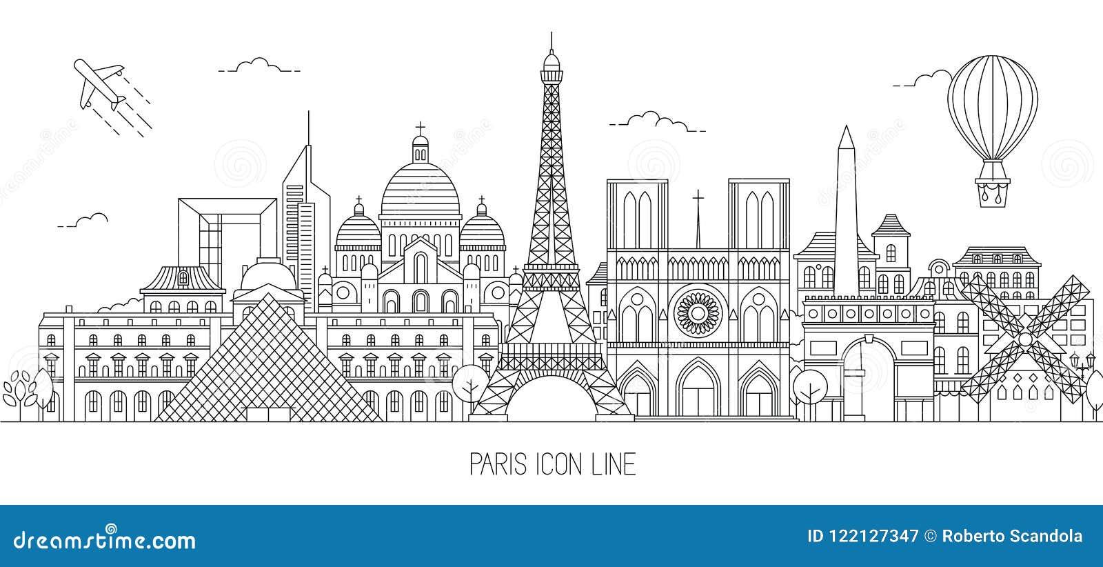 Ejemplo del vector del horizonte de París