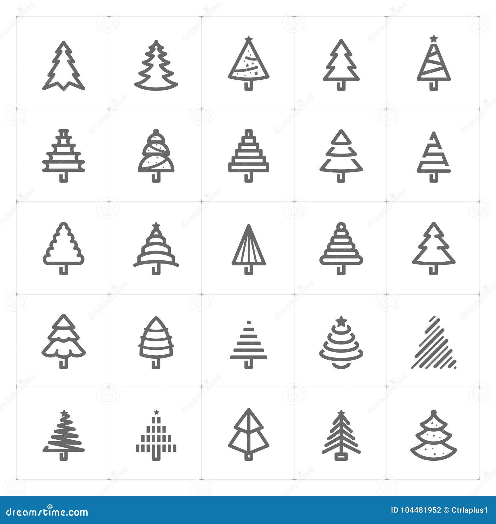 """Ejemplo del vector del icono del árbol de navidad del †determinado de Mini Icon """""""