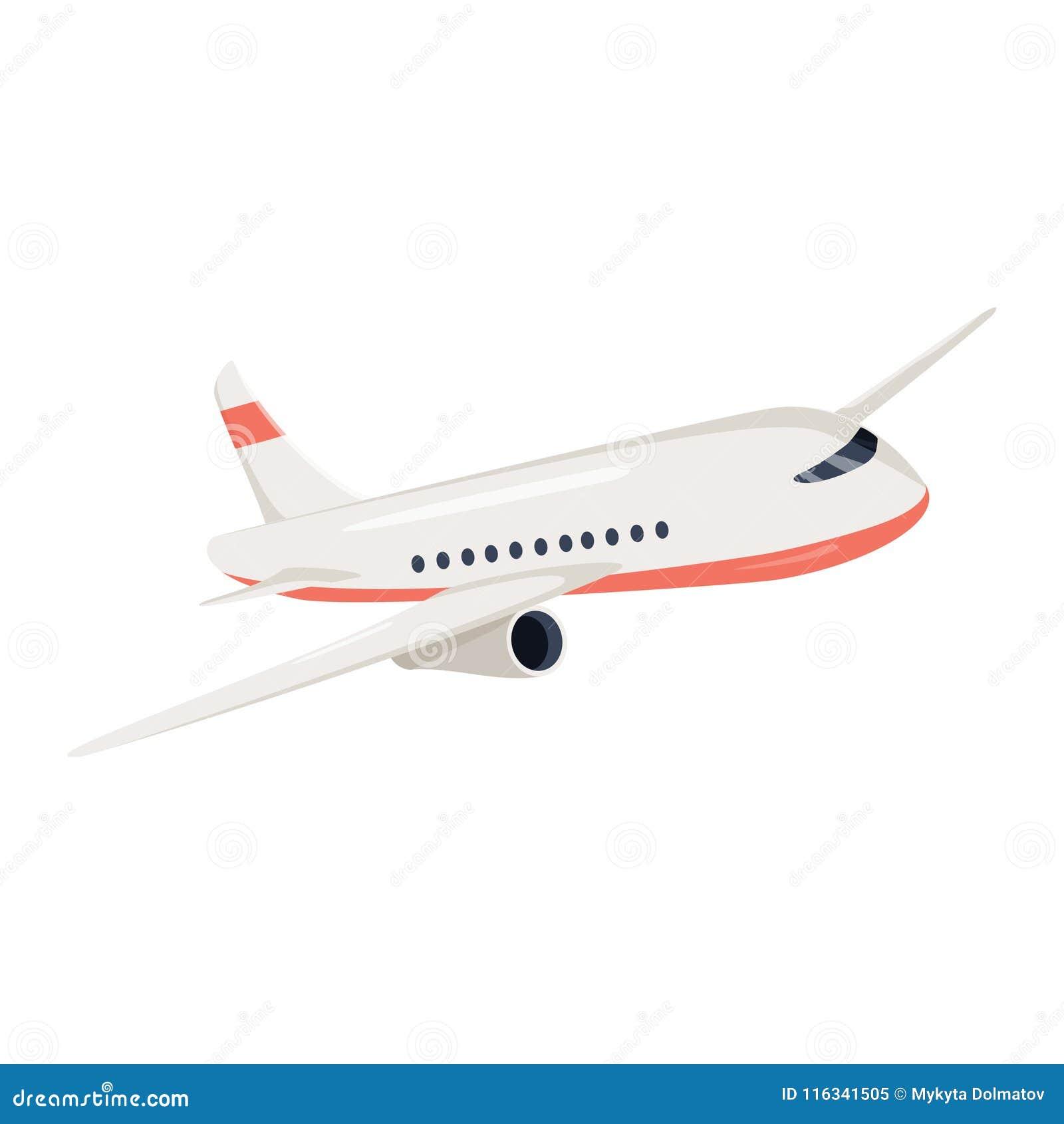 Ejemplo del vector del icono del avión Símbolo del viaje del vuelo del aeroplano La opinión de avión plano de un avión del vuelo