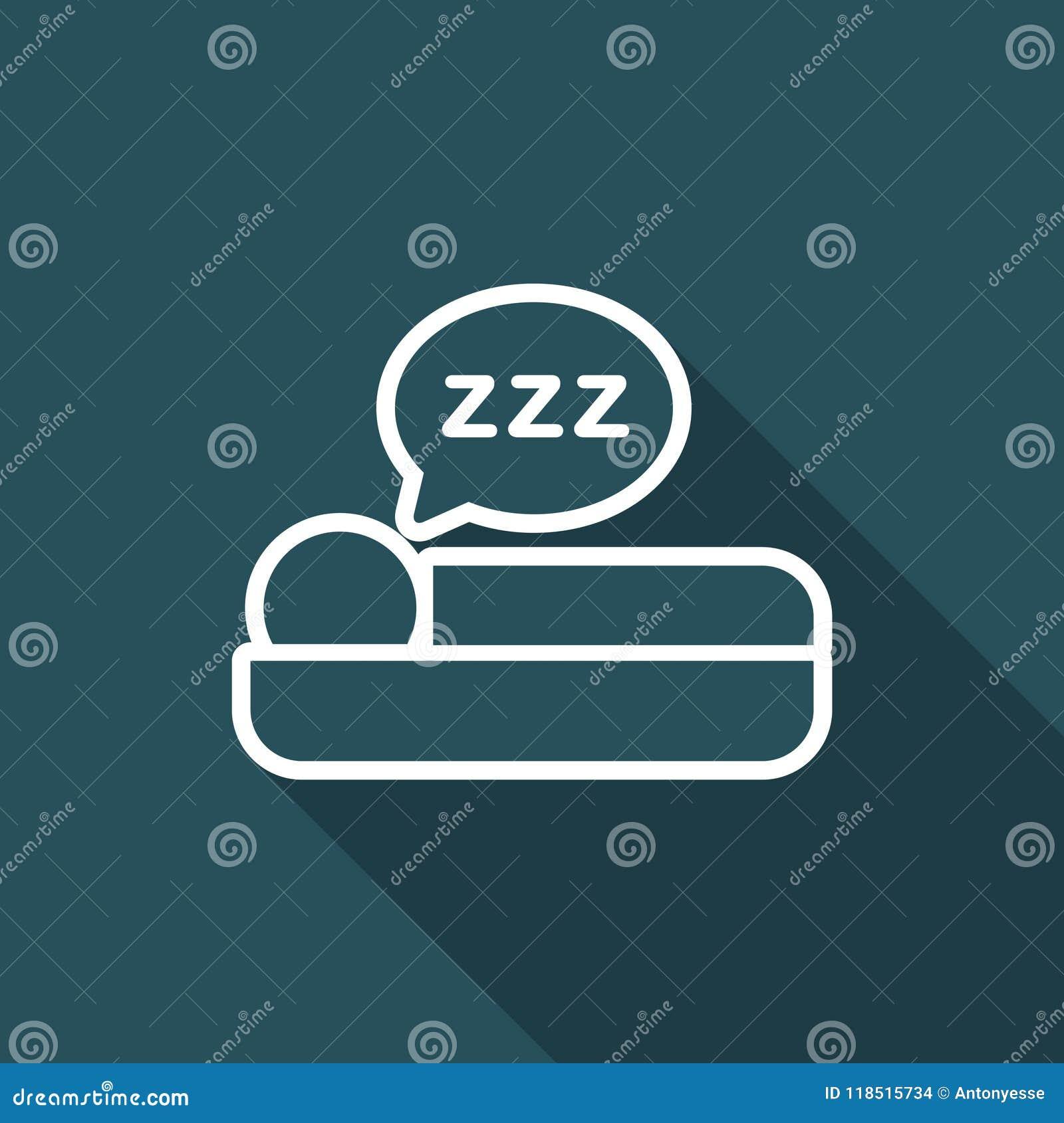 Ejemplo del vector del icono del sueño