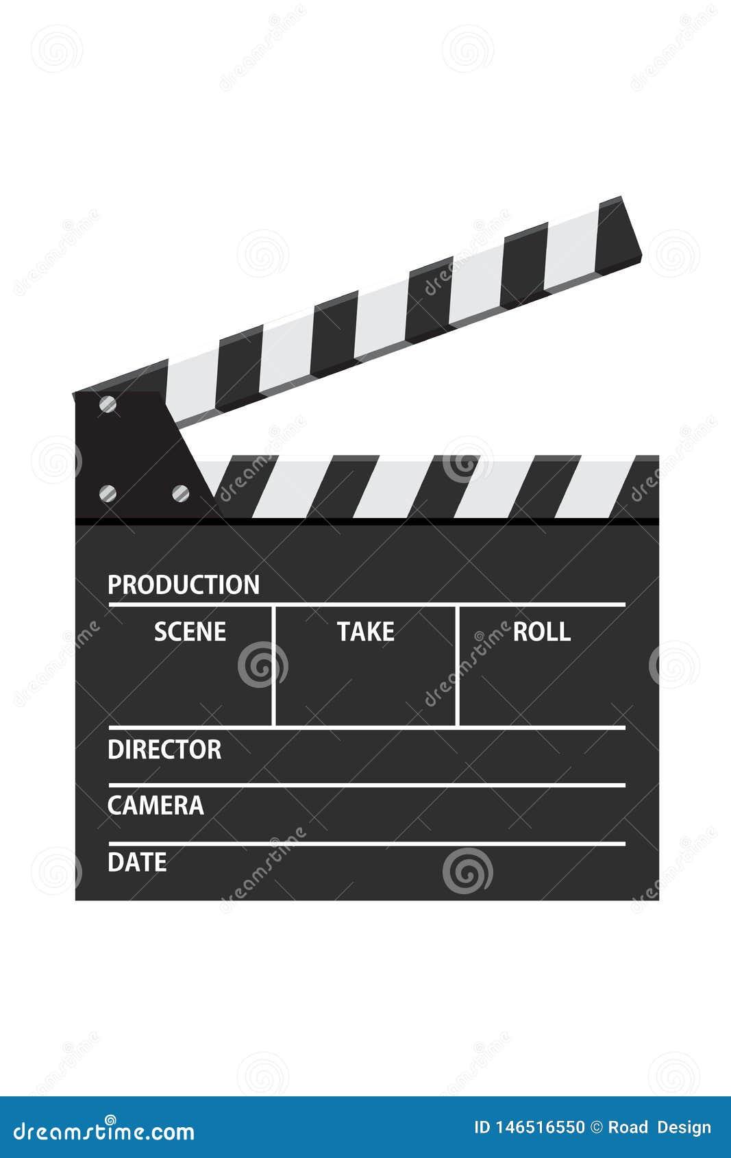 Ejemplo del vector del tablero de chapaleta de la película Icono video Industria del rodaje de pel?culas
