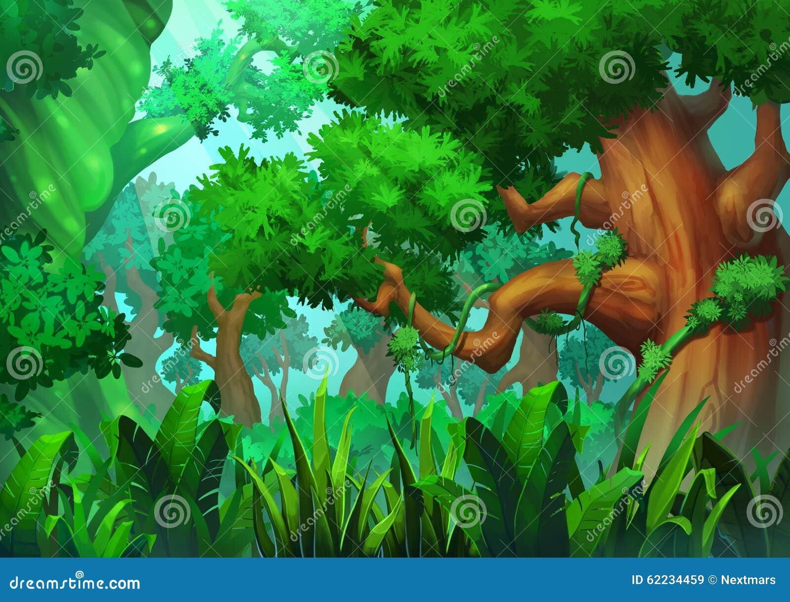 Ejemplo El Bosque Verde Primitivo Stock De Ilustracion Ilustracion De Verde Wallpaper 62234459