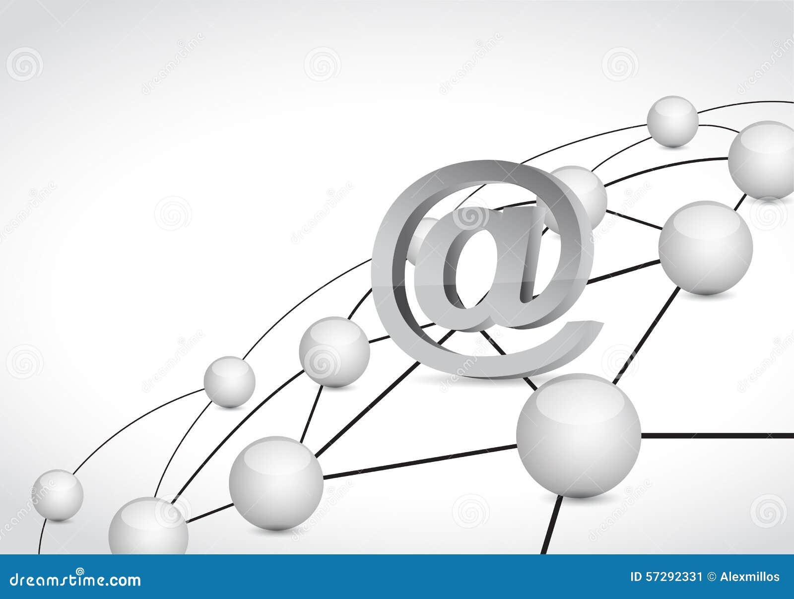 Ejemplo en línea de la red de la conexión de vínculo