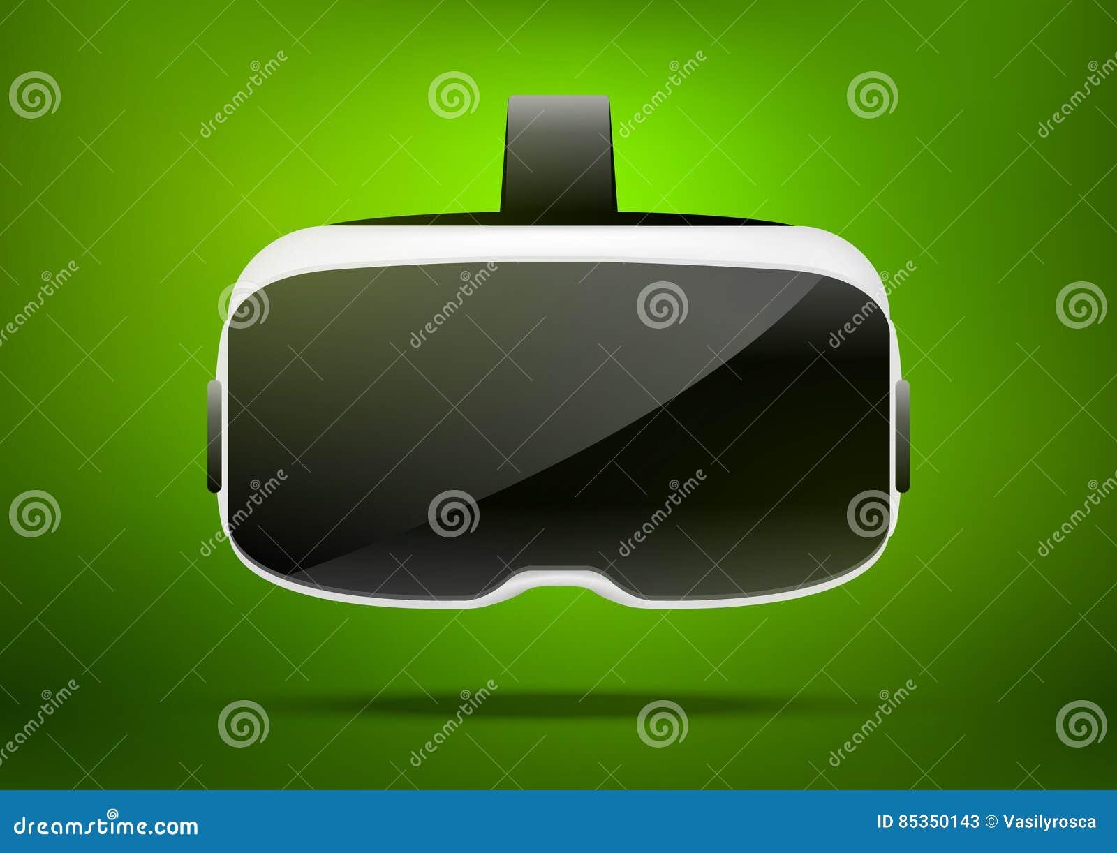 Ejemplo estereoscópico del vr 3d Tecnología digital virtual del ciberespacio del vector Dispositivo de la innovación