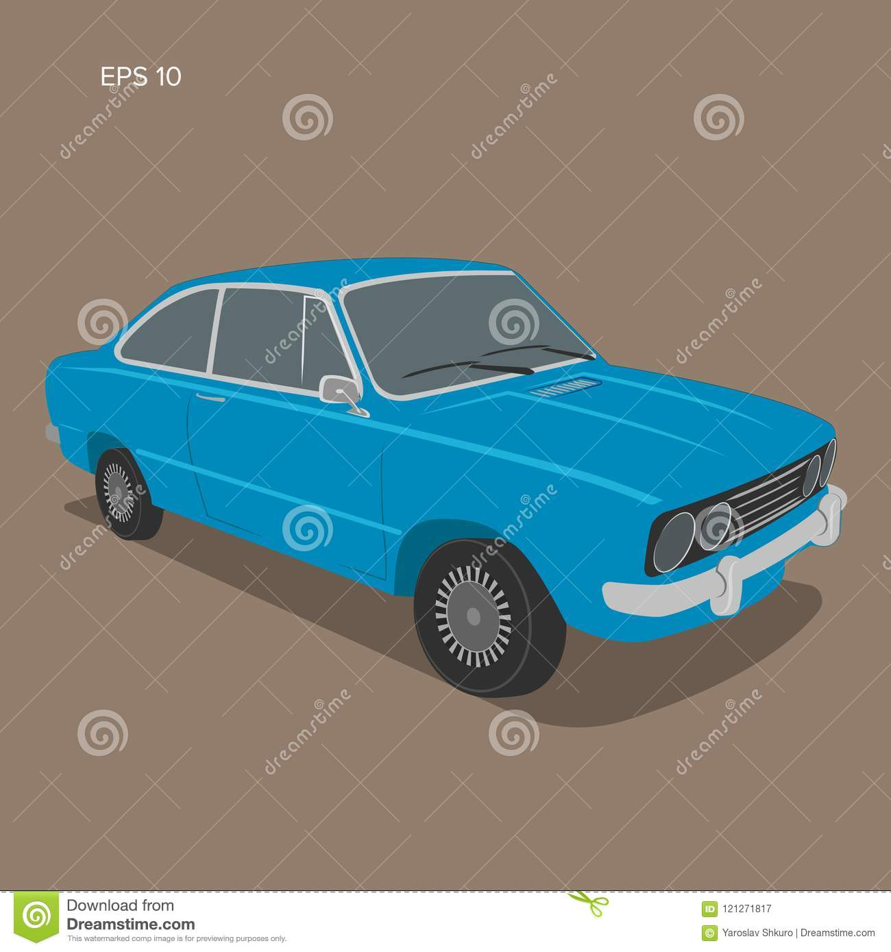 Ford escort europeo ilustraciones