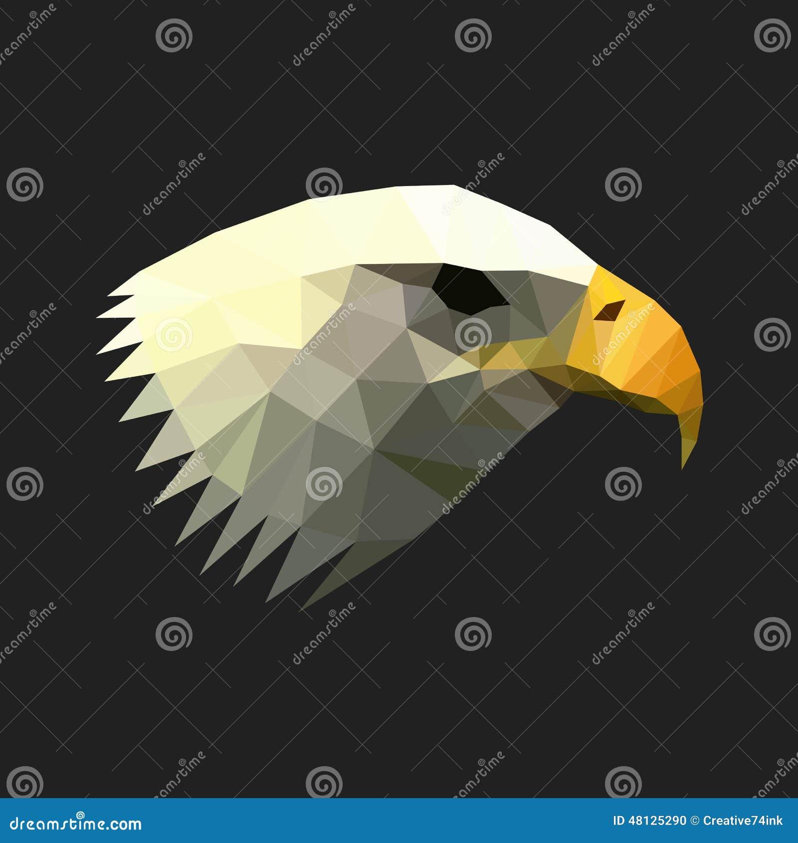 Ejemplo geométrico del águila del polígono