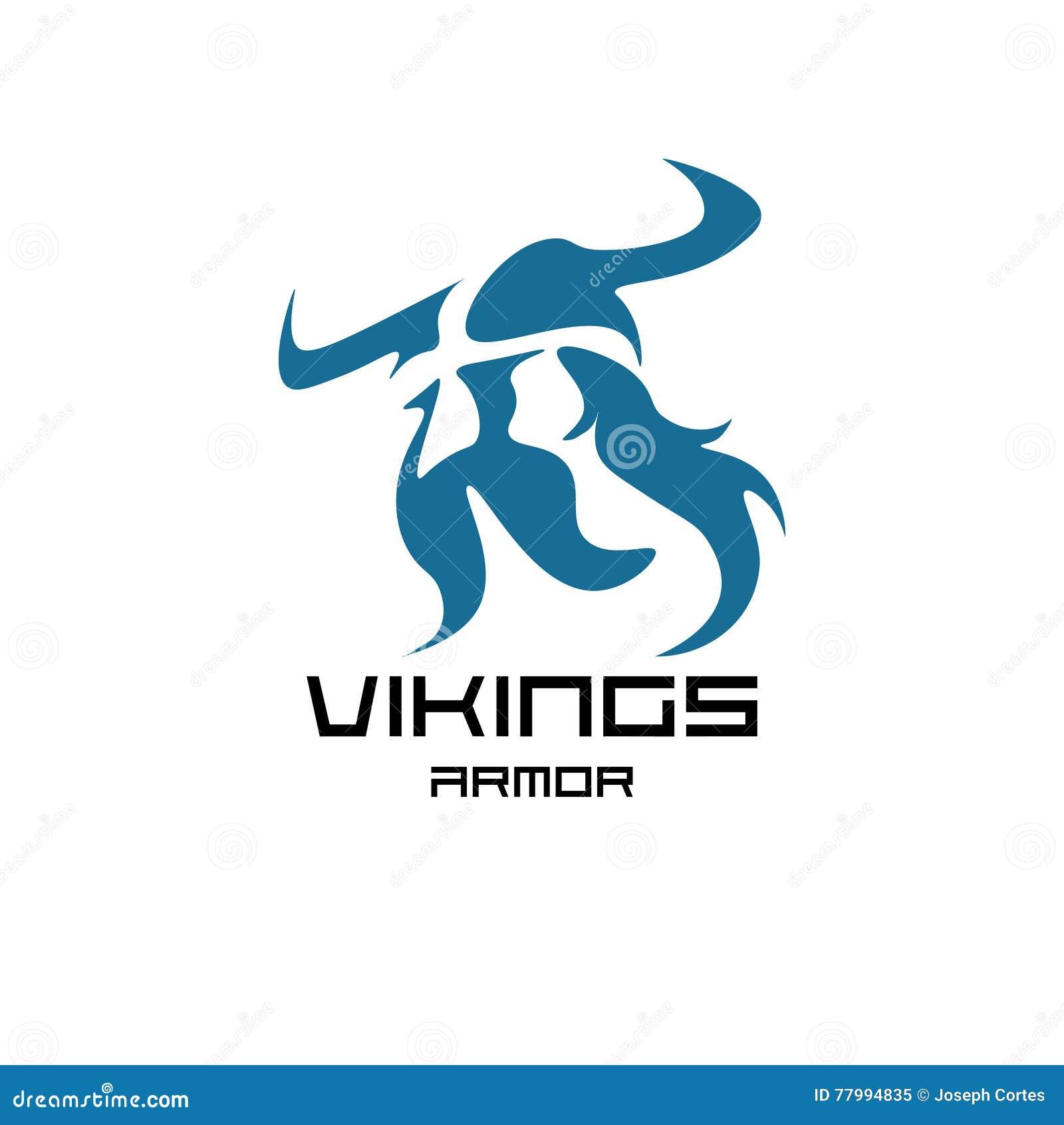 Ejemplo gráfico moderno de un guerrero de vikingo en formato del vector
