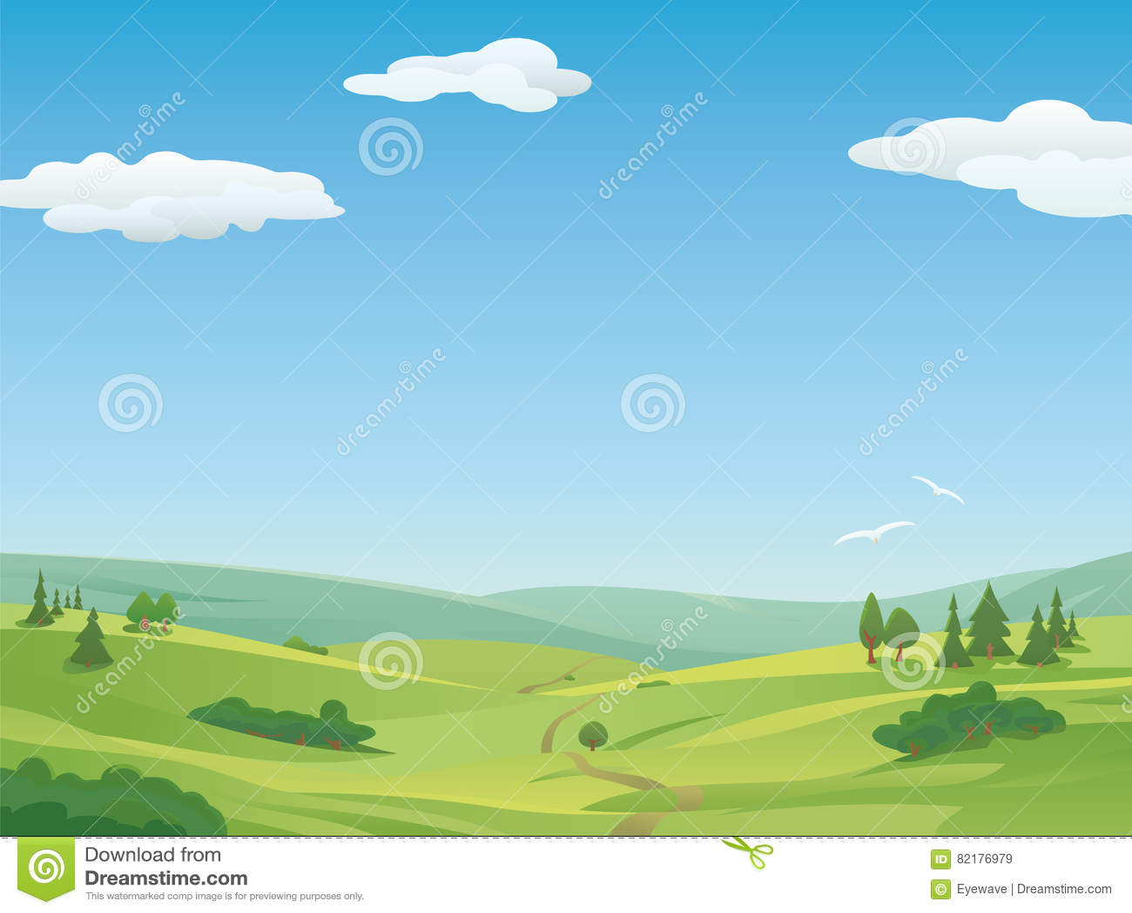 Ejemplo idílico del paisaje