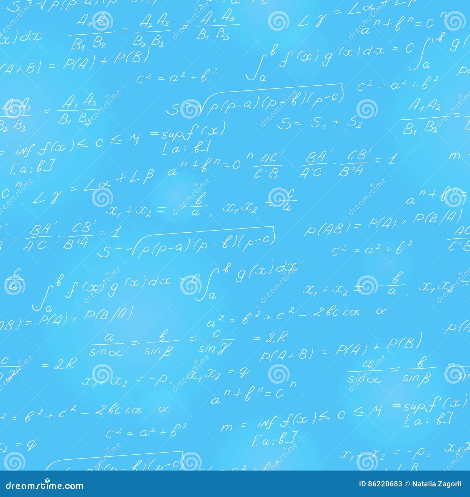 Ejemplo Inconsútil En El Tema Del Tema De Las Matemáticas, Fórmulas ...