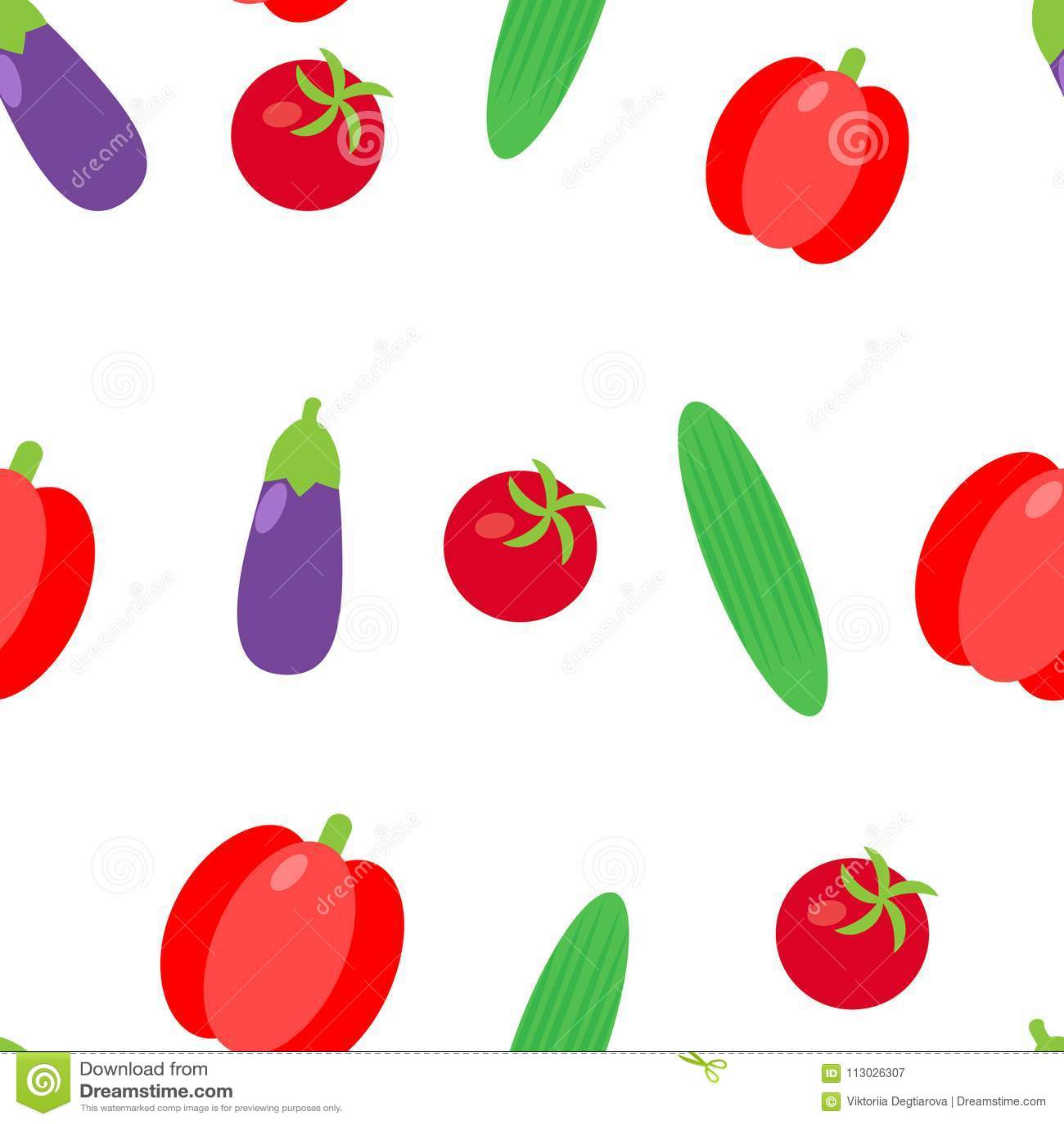 Ejemplo inconsútil vegetal del vector