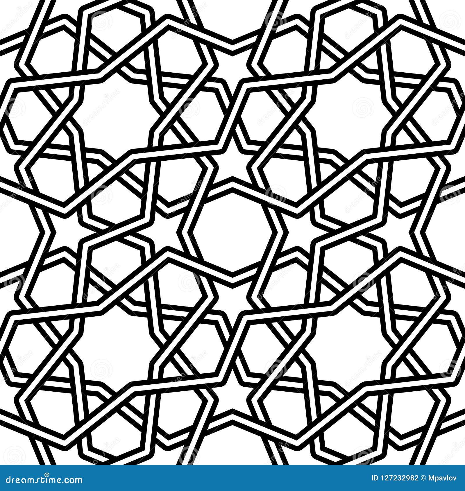Ejemplo islámico del vector del modelo en el fondo blanco