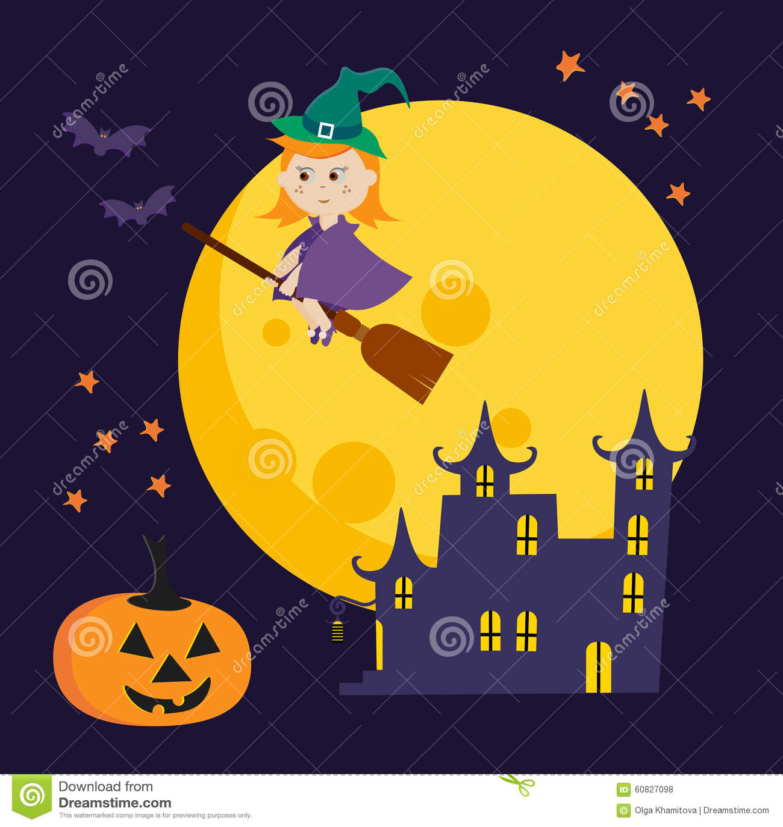 Ejemplo lindo de Halloween del vector