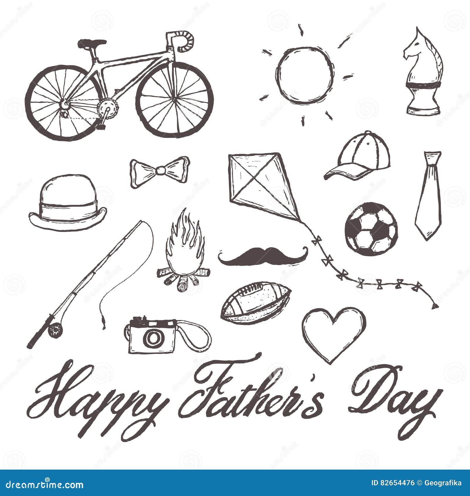 Ejemplo a mano del padre del día feliz del ` s con el texto