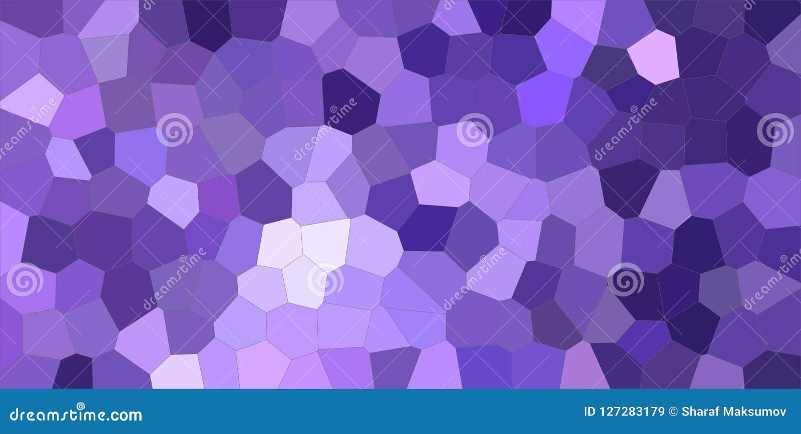 Ejemplo medio colorido azul marino y púrpura del fondo del hexágono del tamaño