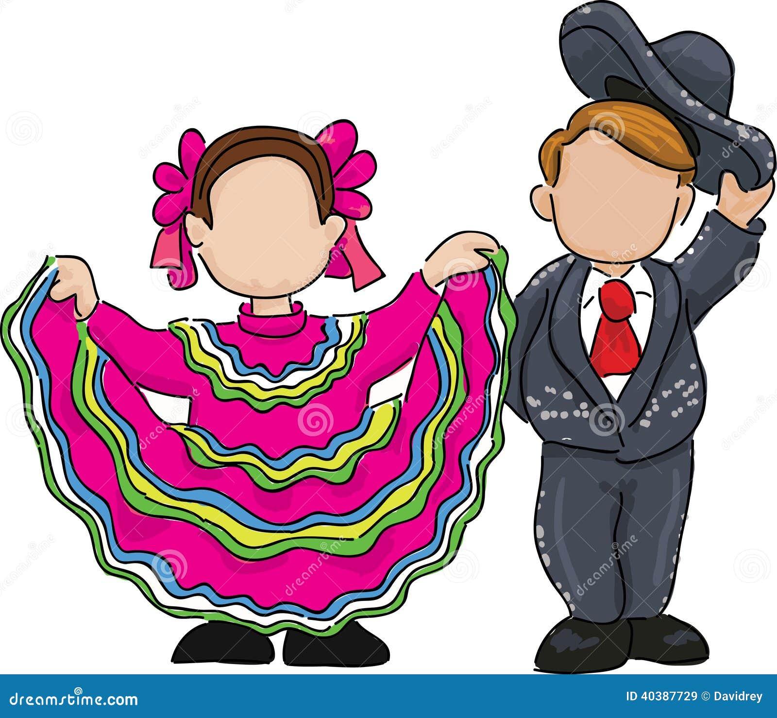 Ejemplo Mexicano Tradicional De La Danza Popular Ilustración del ...