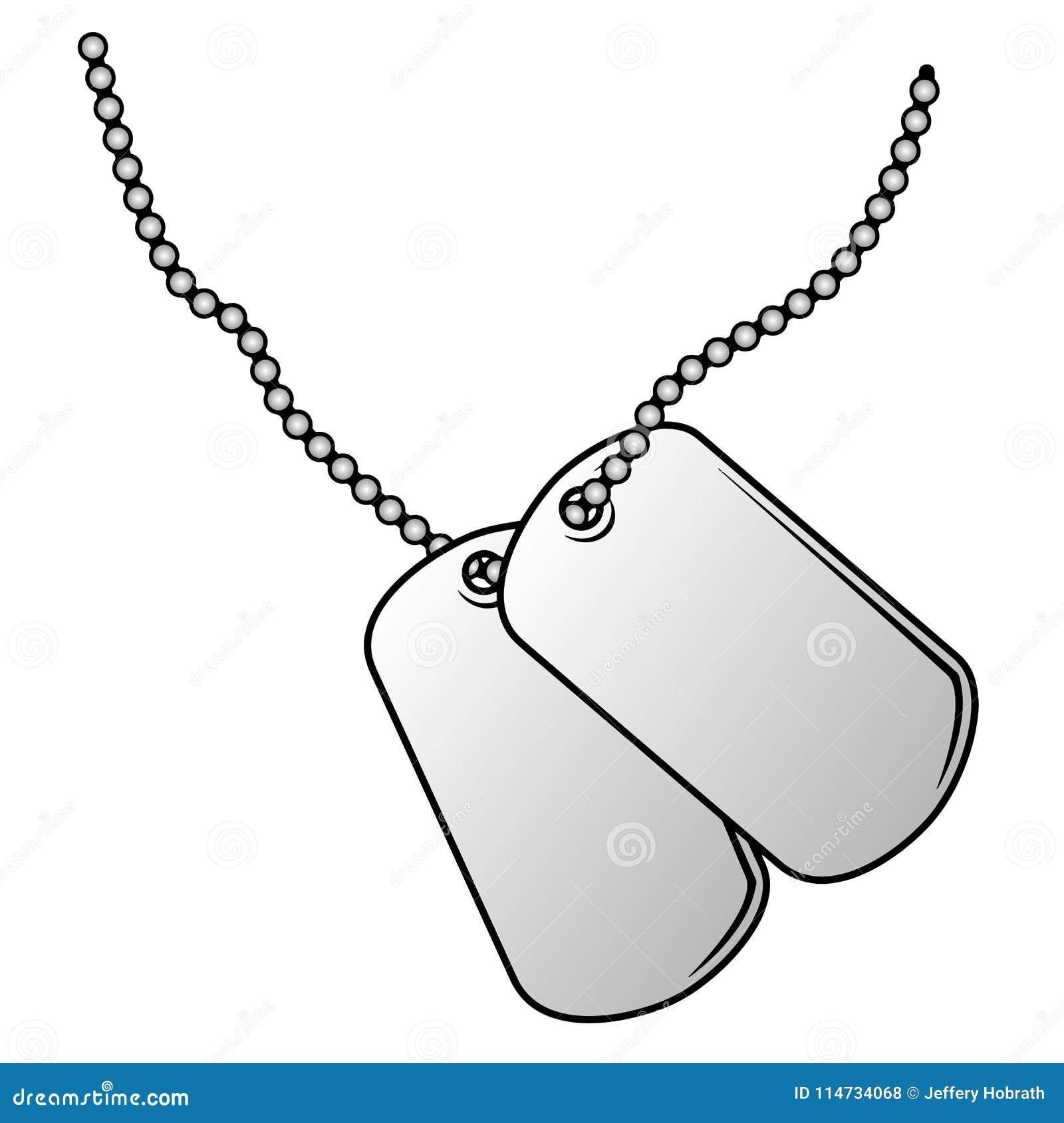 Ejemplo Militar Del Vector De Las Placas De Identificación ...