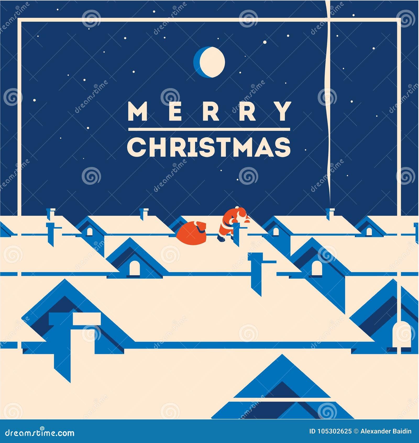 Ejemplo minimalistic del vector de la Feliz Navidad