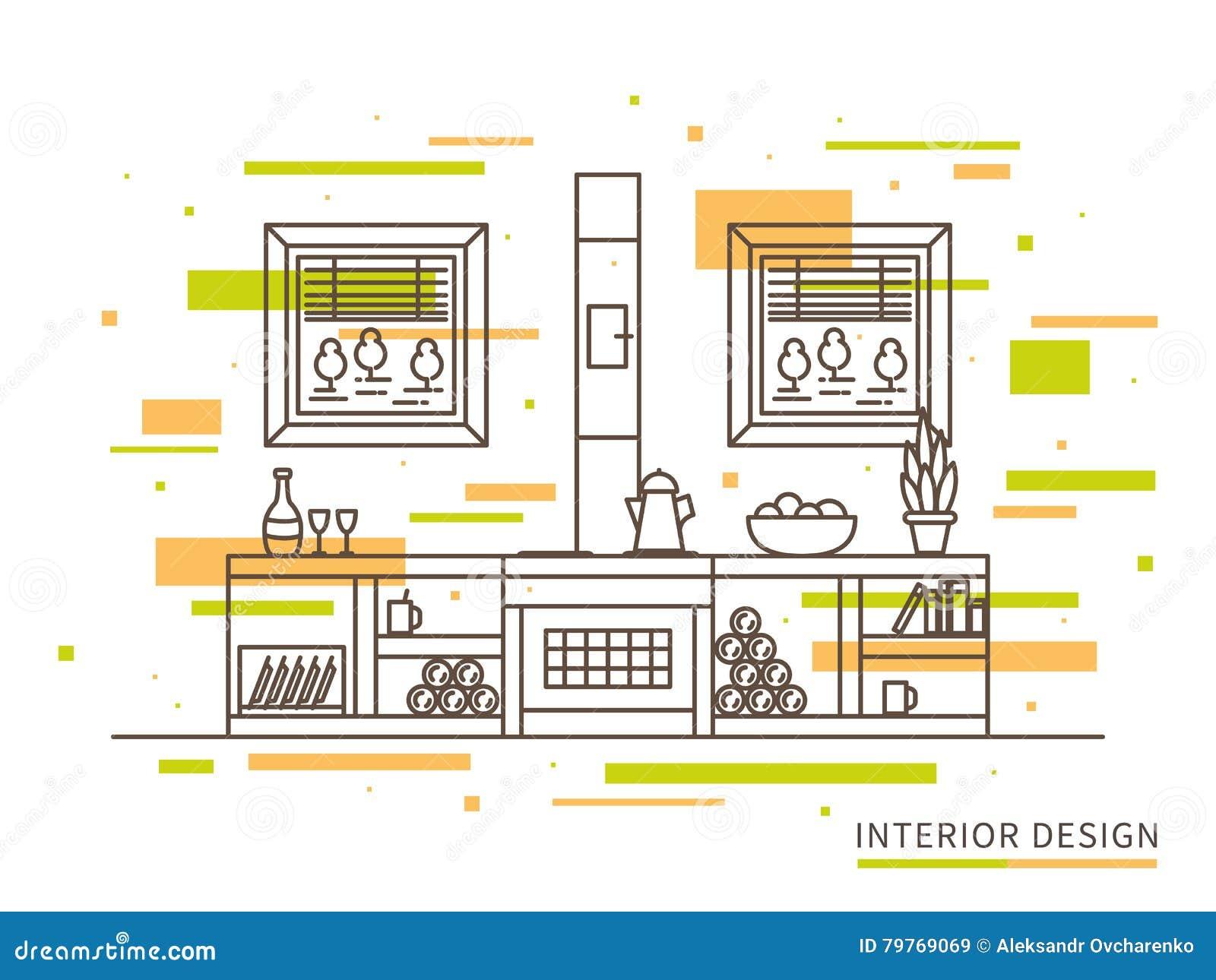 ejemplo plano linear del dise o interior de la casa