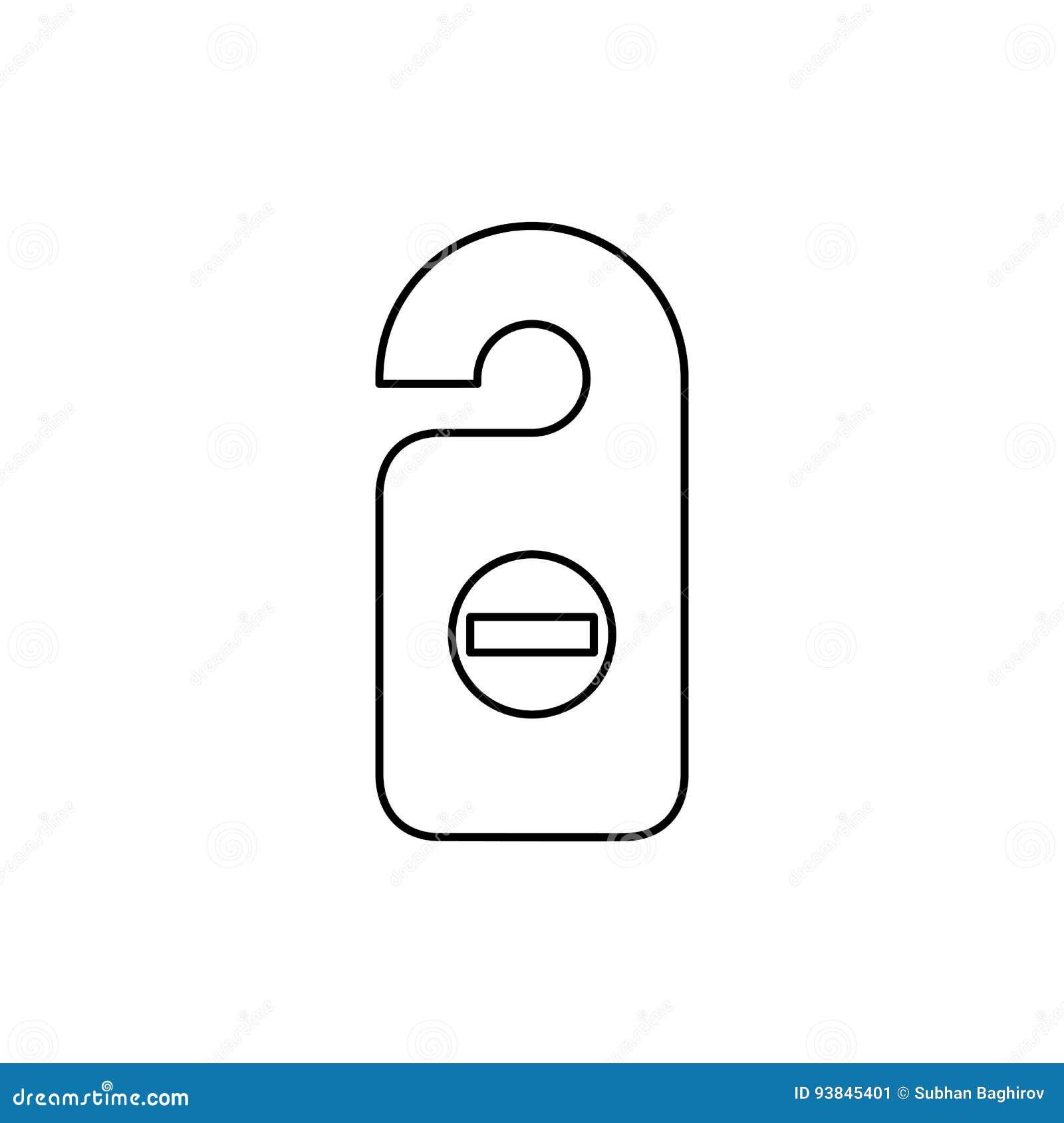 Ejemplo plano simple del vector del estilo del icono de la etiqueta del sitio Etiqueta de la puerta, d